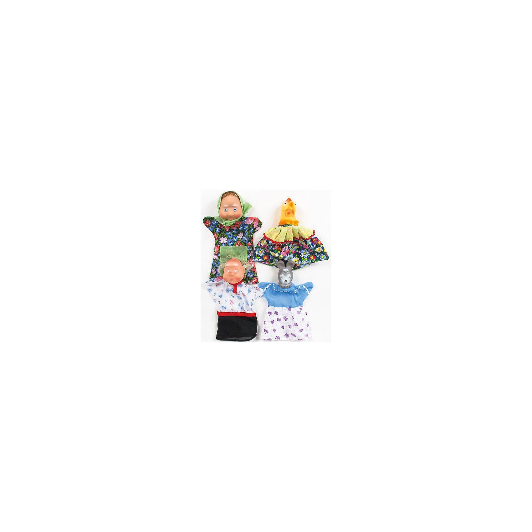 Кукольный театр Курочка ряба (4 перс.), Русский стильМягкие игрушки на руку<br>Отличный набор для домашних импровизированных спектаклей! <br>Проводите больше времени со своим малышом, за такой интересной, развивающей театральной игрой. <br><br>Дополнительная информация:<br><br>- Возраст: от 3 лет.<br>- Размер платья (у всех персонажей одинаковый размер): 21х0,5х23 см.<br>- Размер головы куклы Бабка: 7х7х9 см.<br>- Размер головы куклы Мышь: 5х6х8,5 см.<br>- Размер головы куклы Дед: 6,5х7,5х8,5 см.<br>- Размер головы куклы Курочка: 5,5х6,5х7,5 см<br>- Материал: ПВХ, пластизоля и ситца.<br>- Размер упаковки: 30х10х21,5 см.<br>- Вес в упаковке: 300 г.<br><br>Купить кукольный театр Курочка ряба можно в нашем магазине.<br><br>Ширина мм: 300<br>Глубина мм: 100<br>Высота мм: 215<br>Вес г: 300<br>Возраст от месяцев: 36<br>Возраст до месяцев: 60<br>Пол: Унисекс<br>Возраст: Детский<br>SKU: 4879309