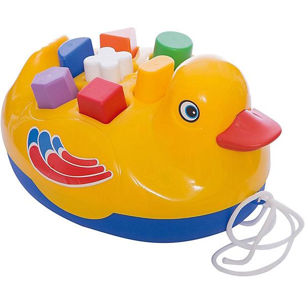 Каталка-сортер Утенок, Русский стильРазвивающие игрушки<br>Развивающая детская игрушка утенок понравится Вашему ребенку! <br>В спинке утенка есть специальные отверстия разных форм, в которые нужно вставлять фигурки. С такой игрушкой малыш может не только увлеченно играть, но и познакомиться с различными формами и фигурами. Игрушка поможет ребенку развить логическое мышление, а также зрительное и цветовое восприятие.<br><br>Дополнительная информация:<br><br>- Возраст: от 1 года.<br>- Материал: пластик, текстиль.<br>- Комплект: утка, 7 фигурок.<br>- Размер упаковки: 15х17х22 см.<br>- Вес в упаковке: 250 г.<br><br>Купить каталку-сортер Утенок можно в нашем магазине.<br>Ширина мм: 150; Глубина мм: 170; Высота мм: 220; Вес г: 250; Возраст от месяцев: 12; Возраст до месяцев: 48; Пол: Унисекс; Возраст: Детский; SKU: 4879312;