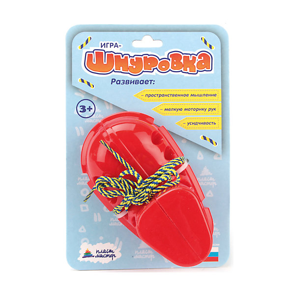 Шнуровка Ботинок, ПластмастерШнуровки<br>ДИДАКТИЧЕСКАЯ ИГРУШКА БОТИНОК-ШНУРОВКА - это чудо игрушка, которая хорошо развивает мелкую моторику рук, внимание и учит малыша самостоятельно зашнуровывать шнурки. <br><br>Дополнительная информация:<br><br>- Возраст: от 3 лет.<br>- Материал: пластик.<br>- Размер упаковки: 8х22х14,5 см.<br>- Вес в упаковке: 110 г.<br><br>Купить шнуровку Ботинок можно в нашем магазине.<br><br>Ширина мм: 80<br>Глубина мм: 220<br>Высота мм: 145<br>Вес г: 110<br>Возраст от месяцев: 36<br>Возраст до месяцев: 60<br>Пол: Унисекс<br>Возраст: Детский<br>SKU: 4879319