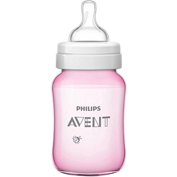 Бутылочка Classic+, 260 мл, 1 мес+, Philips Avent, розовыйХиты продаж<br>Новая, улучшенная бутылочка Classic+ от Philips Avent - это то, что необходимо Вам!  <br><br>Особенности:<br>- Удобное кормление благодаря уникальной форме бутылочки. <br>- Антиколиковая система. Во время кормления, открывается специальный клапан на соске, пропуская воздух в бутылочку, а не в живот ребеночка.<br>- Благодаря широкому горлышку, после кормления, можно без труда очистить бутылку.<br>- Для большего удобства и более длительного использования бутылочка совместима с большинством изделий линейки Philips. <br>- Не содержащего бисфенола-А.<br><br>Дополнительная информация: <br><br>- Возраст: с 1 месяца.<br>- Объем: 260 мл.<br>- Цвет: розовый.<br>- Материал: полипропилен, силикон. <br>- Размер упаковки: 7,1х7,1х16,9 см.<br>- Вес в упаковке: 92 г.<br><br>Купить бутылочку Classic+ от Philips Avent в розовом цвете, можно в нашем магазине.<br><br>Ширина мм: 71<br>Глубина мм: 71<br>Высота мм: 169<br>Вес г: 92<br>Возраст от месяцев: 1<br>Возраст до месяцев: 2147483647<br>Пол: Женский<br>Возраст: Детский<br>SKU: 4880863