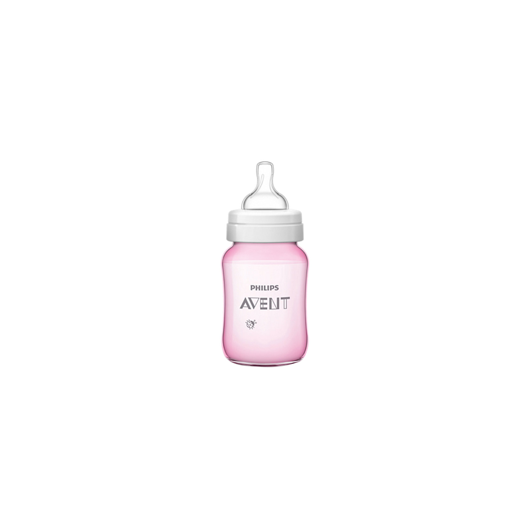 Бутылочка Classic+, 260 мл, 1 мес+, Philips Avent, розовый210 - 281 мл.<br>Новая, улучшенная бутылочка Classic+ от Philips Avent - это то, что необходимо Вам!  <br><br>Особенности:<br>- Удобное кормление благодаря уникальной форме бутылочки. <br>- Антиколиковая система. Во время кормления, открывается специальный клапан на соске, пропуская воздух в бутылочку, а не в живот ребеночка.<br>- Благодаря широкому горлышку, после кормления, можно без труда очистить бутылку.<br>- Для большего удобства и более длительного использования бутылочка совместима с большинством изделий линейки Philips. <br>- Не содержащего бисфенола-А.<br><br>Дополнительная информация: <br><br>- Возраст: с 1 месяца.<br>- Объем: 260 мл.<br>- Цвет: розовый.<br>- Материал: полипропилен, силикон. <br>- Размер упаковки: 7,1х7,1х16,9 см.<br>- Вес в упаковке: 92 г.<br><br>Купить бутылочку Classic+ от Philips Avent в розовом цвете, можно в нашем магазине.<br><br>Ширина мм: 71<br>Глубина мм: 71<br>Высота мм: 169<br>Вес г: 92<br>Возраст от месяцев: 1<br>Возраст до месяцев: 2147483647<br>Пол: Женский<br>Возраст: Детский<br>SKU: 4880863