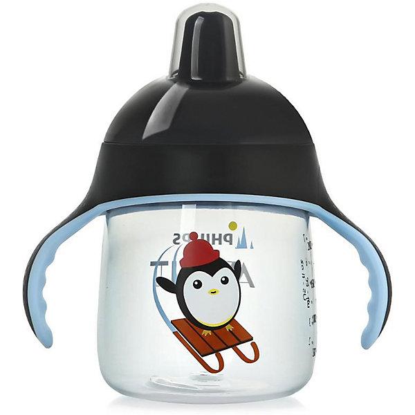 Чашка-поильник, 260 мл, 12 мес+, Philips Avent, черныйПоильники<br>Такая чашка без труда поможет Вашему ребенку отучиться   от бутылочки! Она оснащена специальным клапаном, который предотвращает проливание. Мягкий носик, расположенный под углом, облегчает питье из чашки и предотвращает повреждение нежных десен ребенка.<br><br>Особенности:<br>- Для большего удобства, носик расположен под углом.<br>- Мягкие силиконовые ручки.<br>- Чашка не содержит БИСФЕНОЛ-А.<br>- Можно мыть в посудомоечной машине.<br>- Легко превращается в обычную чашку.<br><br>Дополнительная информация:<br><br>- Возраст: от 12 месяцев.<br>- Объем: 260 мл.<br>- Цвет: черный.<br>- Размер упаковки: 9х12,5х19,8 см..<br>- Вес в упаковке: 112 г.<br><br>Купить чашку-поильник Philips Avent в черном цвете, можно в нашем магазине.<br><br>Ширина мм: 90<br>Глубина мм: 125<br>Высота мм: 198<br>Вес г: 112<br>Возраст от месяцев: 12<br>Возраст до месяцев: 36<br>Пол: Мужской<br>Возраст: Детский<br>SKU: 4880871