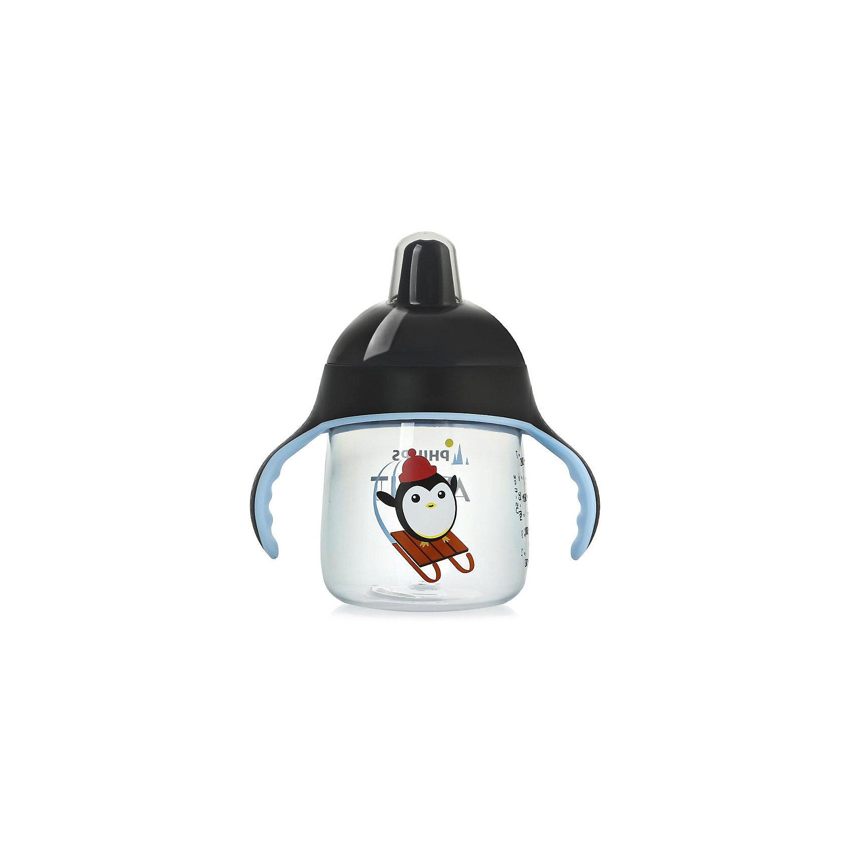 Чашка-поильник, 260 мл, 12 мес+, Philips Avent, черныйТакая чашка без труда поможет Вашему ребенку отучиться   от бутылочки! Она оснащена специальным клапаном, который предотвращает проливание. Мягкий носик, расположенный под углом, облегчает питье из чашки и предотвращает повреждение нежных десен ребенка.<br><br>Особенности:<br>- Для большего удобства, носик расположен под углом.<br>- Мягкие силиконовые ручки.<br>- Чашка не содержит БИСФЕНОЛ-А.<br>- Можно мыть в посудомоечной машине.<br>- Легко превращается в обычную чашку.<br><br>Дополнительная информация:<br><br>- Возраст: от 12 месяцев.<br>- Объем: 260 мл.<br>- Цвет: черный.<br>- Размер упаковки: 9х12,5х19,8 см..<br>- Вес в упаковке: 112 г.<br><br>Купить чашку-поильник Philips Avent в черном цвете, можно в нашем магазине.<br><br>Ширина мм: 90<br>Глубина мм: 125<br>Высота мм: 198<br>Вес г: 112<br>Возраст от месяцев: 12<br>Возраст до месяцев: 36<br>Пол: Мужской<br>Возраст: Детский<br>SKU: 4880871