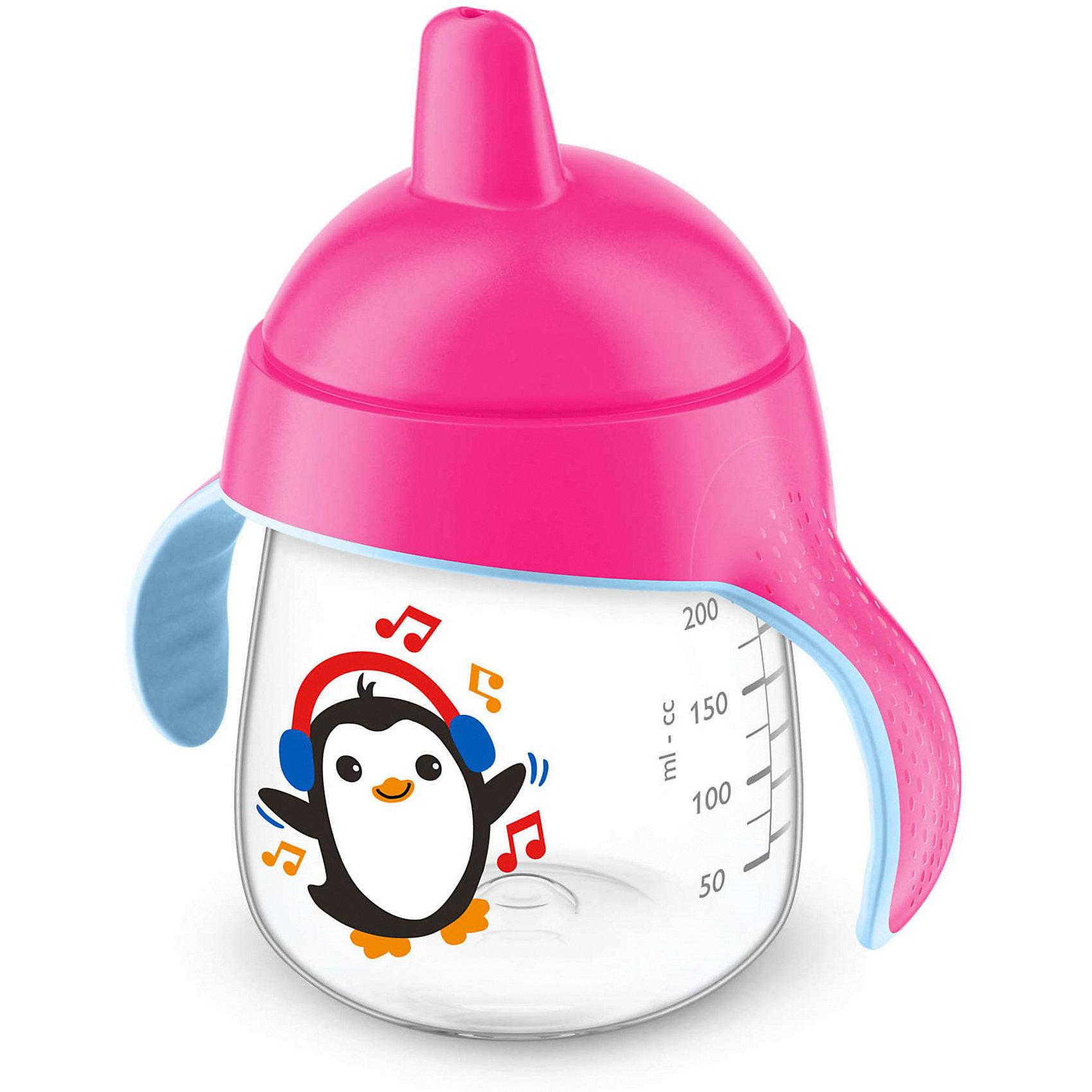 Чашка-поильник, 260 мл, 12 мес+, Philips Avent, розовыйПоильники<br>Такая чашка без труда поможет Вашему ребенку отучиться   от бутылочки! Она оснащена специальным клапаном, который предотвращает проливание. Мягкий носик, расположенный под углом, облегчает питье из чашки и предотвращает повреждение нежных десен ребенка.<br><br>Особенности:<br>- Для большего удобства, носик расположен под углом.<br>- Мягкие силиконовые ручки.<br>- Чашка не содержит БИСФЕНОЛ-А.<br>- Можно мыть в посудомоечной машине.<br>- Легко превращается в обычную чашку.<br><br>Дополнительная информация:<br><br>- Возраст: от 12 месяцев.<br>- Объем: 260 мл.<br>- Цвет: розовый.<br>- Размер упаковки: 9х12,5х19,8 см..<br>- Вес в упаковке: 112 г.<br><br>Купить чашку-поильник Philips Avent в розовом цвете, можно в нашем магазине.<br><br>Ширина мм: 90<br>Глубина мм: 125<br>Высота мм: 198<br>Вес г: 112<br>Возраст от месяцев: 12<br>Возраст до месяцев: 36<br>Пол: Женский<br>Возраст: Детский<br>SKU: 4880872