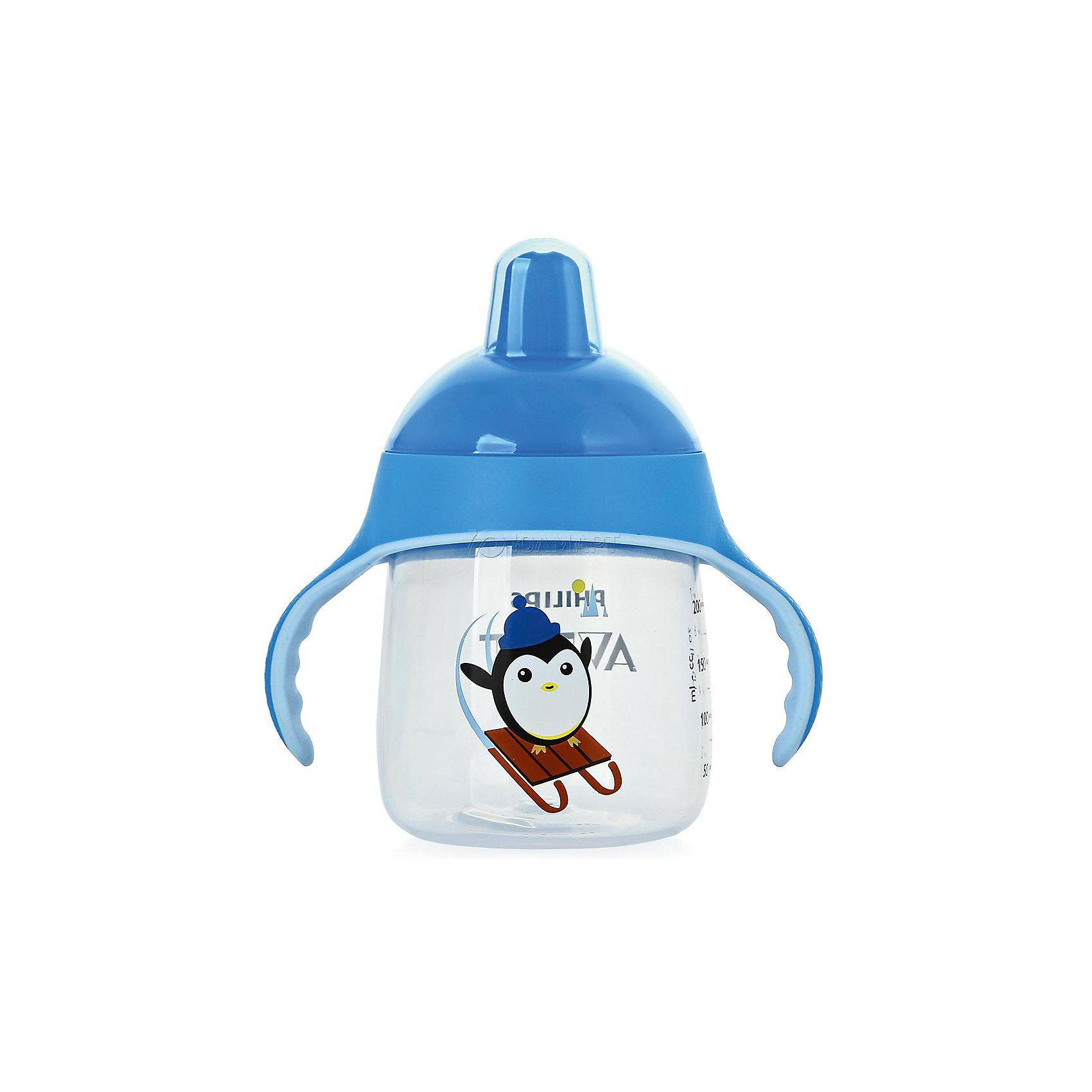 Чашка-поильник, 260 мл, 12 мес+, Philips Avent, голубойТакая чашка без труда поможет Вашему ребенку отучиться   от бутылочки! Она оснащена специальным клапаном, который предотвращает проливание. Мягкий носик, расположенный под углом, облегчает питье из чашки и предотвращает повреждение нежных десен ребенка.<br><br>Особенности:<br>- Для большего удобства, носик расположен под углом.<br>- Мягкие силиконовые ручки.<br>- Чашка не содержит БИСФЕНОЛ-А.<br>- Можно мыть в посудомоечной машине.<br>- Легко превращается в обычную чашку.<br><br>Дополнительная информация:<br><br>- Возраст: от 12 месяцев.<br>- Объем: 260 мл.<br>- Цвет: голубой.<br>- Размер упаковки: 9х12,5х19,8 см..<br>- Вес в упаковке: 112 г.<br><br>Купить чашку-поильник Philips Avent в голубом цвете, можно в нашем магазине.<br><br>Ширина мм: 90<br>Глубина мм: 125<br>Высота мм: 198<br>Вес г: 112<br>Возраст от месяцев: 12<br>Возраст до месяцев: 36<br>Пол: Унисекс<br>Возраст: Детский<br>SKU: 4880873