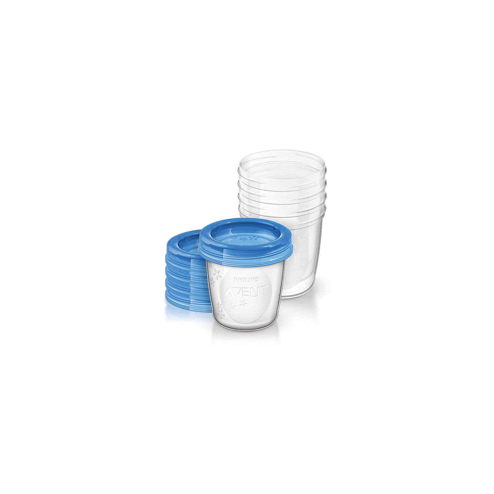 Контейнеры с крышками для хранения питания 5 шт. 180 мл, Philips AventПосуда для малышей<br>Такой набор контейнеров для хранения позволит эффективней сцеживать и хранить грудное молоко. <br><br>Особенности:<br>- Имеют надежную, герметичную крышку для лучшего хранения и транспортировки.<br>- Перед использованием изделие необходимо тщательно промыть.<br>- Контейнеры можно стерилизовать.<br>- Не содержит бисфенол-А.<br><br>Дополнительная информация:<br><br>- Объем: 180 мл.<br>- Кол-во в упаковке: 5 шт.<br>- Размер упаковки: 8х8х20 см.<br>- Вес в упаковке: 160 г.<br><br>Купить контейнеры с крышками для хранения питания от Philips Avent   можно в нашем магазине.<br><br>Ширина мм: 80<br>Глубина мм: 80<br>Высота мм: 200<br>Вес г: 160<br>Возраст от месяцев: 0<br>Возраст до месяцев: 36<br>Пол: Унисекс<br>Возраст: Детский<br>SKU: 4880876