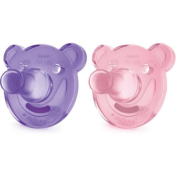 Соска-пустышка с щитком 0-3 мес, 2шт., Philips Avent, розовый/фиолетовыйСиликоновые пустышки<br>Это цельная силиконовая соска-пустышка в виде забавного мишки нежнейшего цвета! Соска учитывает строение и естественное развитие неба, зубов и десен малыша.<br><br>Дополнительная информация:<br><br>- Возраст: с рождения до 3 месяцев.<br>- Кол-во в упаковке: 2 шт.<br>- Цвет: розовый/фиолетовый.<br>- Состав: высококачественный силикон.<br>- Размер упаковки: 4,8х10,3х11,5 см.<br>- Вес в упаковке: 68 г. <br><br>Купить соску-пустышку от Philips Avent, можно в нашем магазине.<br><br>Ширина мм: 48<br>Глубина мм: 103<br>Высота мм: 115<br>Вес г: 68<br>Возраст от месяцев: 0<br>Возраст до месяцев: 3<br>Пол: Женский<br>Возраст: Детский<br>SKU: 4880884