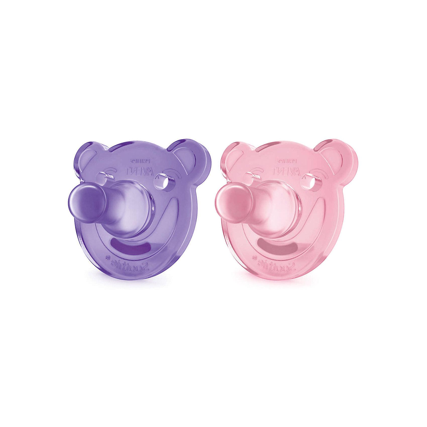 Соска-пустышка с щитком 0-3 мес, 2шт., Philips Avent, розовый/фиолетовыйПустышки из силикона<br>Это цельная силиконовая соска-пустышка в виде забавного мишки нежнейшего цвета! Соска учитывает строение и естественное развитие неба, зубов и десен малыша.<br><br>Дополнительная информация:<br><br>- Возраст: с рождения до 3 месяцев.<br>- Кол-во в упаковке: 2 шт.<br>- Цвет: розовый/фиолетовый.<br>- Состав: высококачественный силикон.<br>- Размер упаковки: 4,8х10,3х11,5 см.<br>- Вес в упаковке: 68 г. <br><br>Купить соску-пустышку от Philips Avent, можно в нашем магазине.<br><br>Ширина мм: 48<br>Глубина мм: 103<br>Высота мм: 115<br>Вес г: 68<br>Возраст от месяцев: 0<br>Возраст до месяцев: 3<br>Пол: Женский<br>Возраст: Детский<br>SKU: 4880884