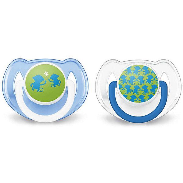 Соска-пустышка 6-18 мес, 2 шт., Classic, Philips Avent, синий/белыйПустышки<br>Невероятно удобная, симметрично мягкая соска-пустышка специально для Вашего ребенка!  Соска выполнена учитывая строение и естественное развитие неба, зубов и десен малыша и гарантирует комфорт. <br><br>Дополнительная информация:<br><br>- Возраст: с 6 до 18 месяцев.<br>- Кол-во в упаковке: 2 шт.<br>- Цвет: синий/белый.<br>- Состав: высококачественный силикон.<br>- Размер упаковки: 4,8х10,3х11,5 см.<br>- Вес в упаковке: 54 г. <br><br>Купить соску-пустышку Classiс от Philips Avent, можно в нашем магазине.<br>Ширина мм: 48; Глубина мм: 103; Высота мм: 115; Вес г: 54; Возраст от месяцев: 6; Возраст до месяцев: 18; Пол: Женский; Возраст: Детский; SKU: 4880888;
