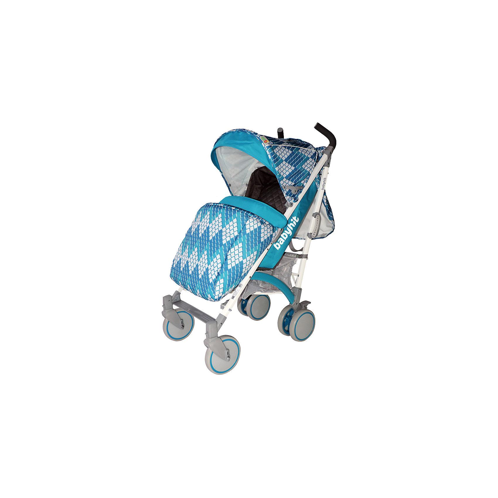 Коляска-трость BabyHit Rainbow Rhombus, голубойКоляски-трости<br>Rainbow, Baby Hit( бэби хит)  – коляска-трость для детей от 6 месяцев до 3 лет. Для дополнительной безопасности малыша коляска оснащена съемным бампером, 5-точечными ремнями и паховым ремнем. 3 положения спинки и регулируемая подножка помогут вашему ребенку удобно расположиться и отдохнуть. Передние плавающие колеса можно зафиксировать; все колеса амортизированы. Капюшон-батискаф опускается до бампера коляска в случае необходимости. Коляска легко складывается и автоматически блокируется. Для удобства переноса предусмотрена специальная ручка.  Есть корзина для покупок. С этой коляской вам будет очень комфортно гулять с крохой.<br>Особенности и преимущества:<br>-5-точечные ремни и паховый ремень для безопасности ребенка<br>-удобна при переносе в сложенном виде<br>-плавающие колеса можно зафиксировать<br>Размеры: 85x43x108 см<br>Вес: 7,4 кг<br>Дополнительные характеристики:<br>Ширина сиденья: 35 см<br>Длина подножки: 13 см<br>Глубина сиденья: 25 см<br>Размер спального места: 85x35 см<br>Высота спинки: 47 см<br>В комплекте: чехол для ног, дождевик, сумка для мамы, москитная сетка<br>Вы можете приобрести коляску Rainbow в нашем интернет-магазине.<br>ВНИМАНИЕ! Данный артикул имеется в наличии в разных цветовых исполнениях (черный/желтый, розовый, голубой). К сожалению, заранее выбрать определенный цвет не возможно.<br><br>Ширина мм: 260<br>Глубина мм: 250<br>Высота мм: 900<br>Вес г: 8700<br>Цвет: голубой<br>Возраст от месяцев: 6<br>Возраст до месяцев: 36<br>Пол: Унисекс<br>Возраст: Детский<br>SKU: 4881275