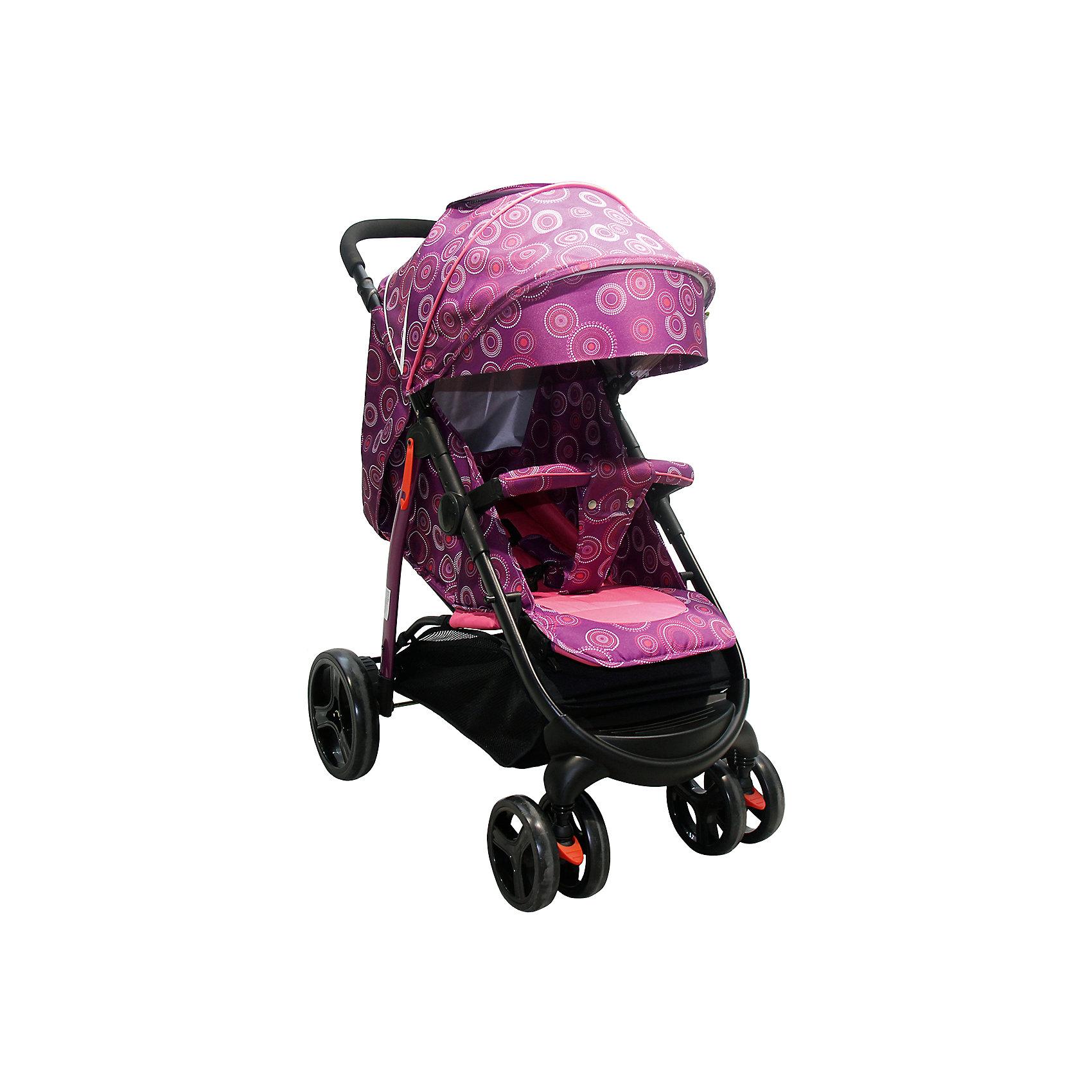 Прогулочная коляска Racy CIRCLES, Baby Hit, фиолетовыйRacy CIRCLES, Baby Hit (бэби хит) – новая прогулочная коляска предназначенная для детей от 6 месяцев до 3 лет.  Коляска очень удобна для ребенка благодаря плавному регулируемому наклону спинки и регулируемой подножке. Капюшон «батискаф»  можно опустить до бампера коляски. На передних колесах есть функция фиксации. Дополнительную безопасность ребенку обеспечит паховый ремень безопасности. Для удобства мамы в коляске предусмотрена корзина для покупок. В комплекте москитная сетка, полог.<br>Особенности и преимущества:<br>-паховый ремень безопасности<br>-капюшон «батискаф»<br>-функция фиксации передних колес<br>Размеры: 90x26x28 см<br>Вес: 9,2 кг<br>Дополнительные характеристики:<br>Размер спального места: 31x72 см<br>Размер сиденья( без подножки): 31x23 см<br>Размер спинки: 31x39 см<br>Коляску Racy CIRCLES можно приобрети в нашем интернет-магазине.<br>ВНИМАНИЕ! Данный артикул имеется в наличии в разных цветовых исполнениях (оранжевый, фиолетовый). К сожалению, заранее выбрать определенный цвет не возможно.<br><br>Ширина мм: 280<br>Глубина мм: 260<br>Высота мм: 900<br>Вес г: 10000<br>Возраст от месяцев: 6<br>Возраст до месяцев: 36<br>Пол: Унисекс<br>Возраст: Детский<br>SKU: 4881277
