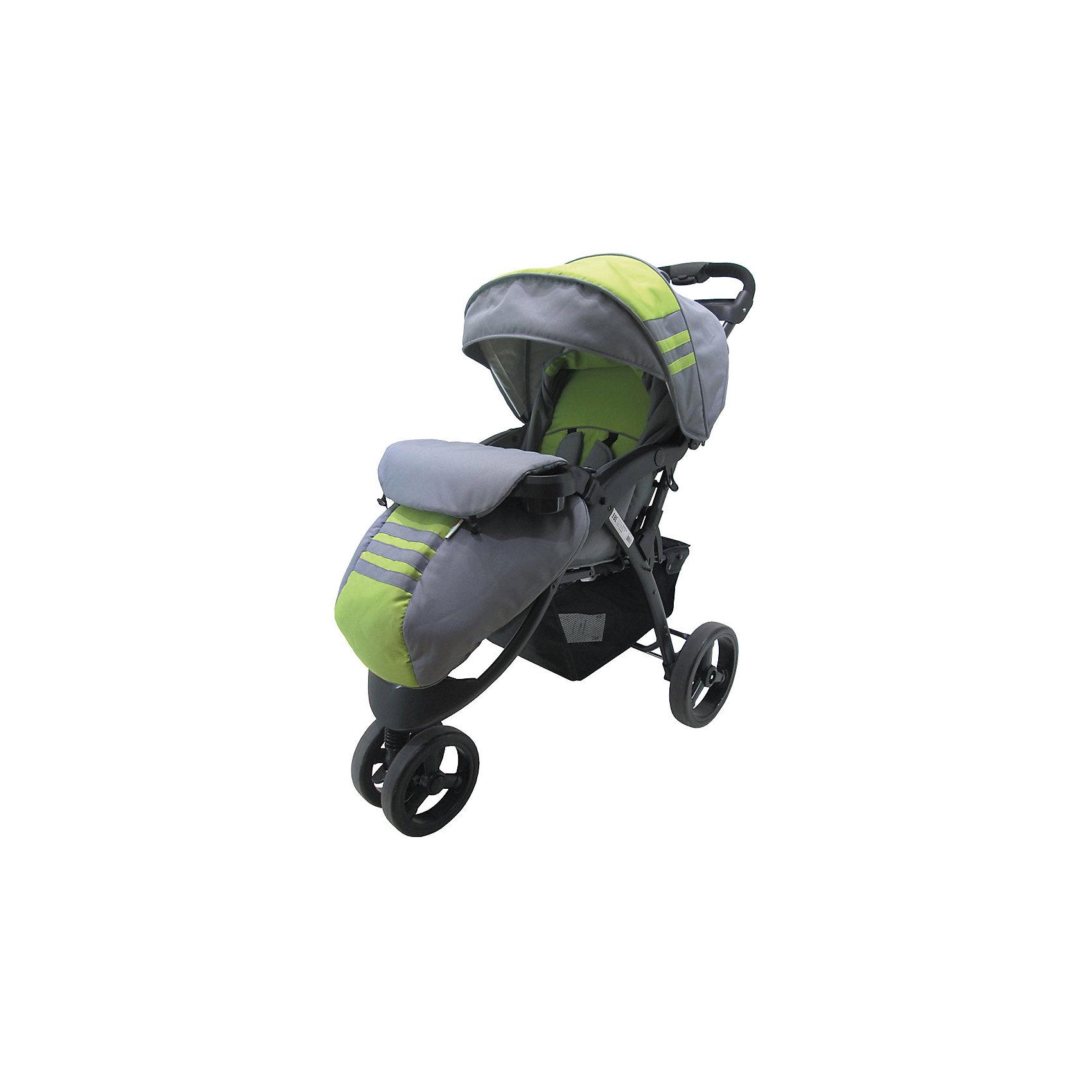 Baby Hit Прогулочная коляска Voyage, Baby Hit, серый/зелёный прогулочная коляска cool baby kdd 6795dc 1 green