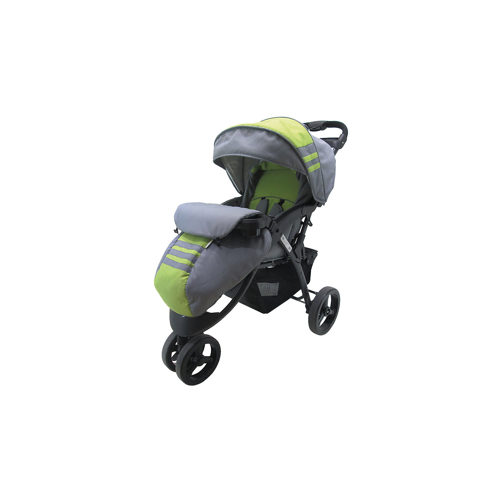 Baby Hit Прогулочная коляска Voyage, Baby Hit, серый/зелёный прогулочная коляска cool baby kdd 6688gb a lilac dairy
