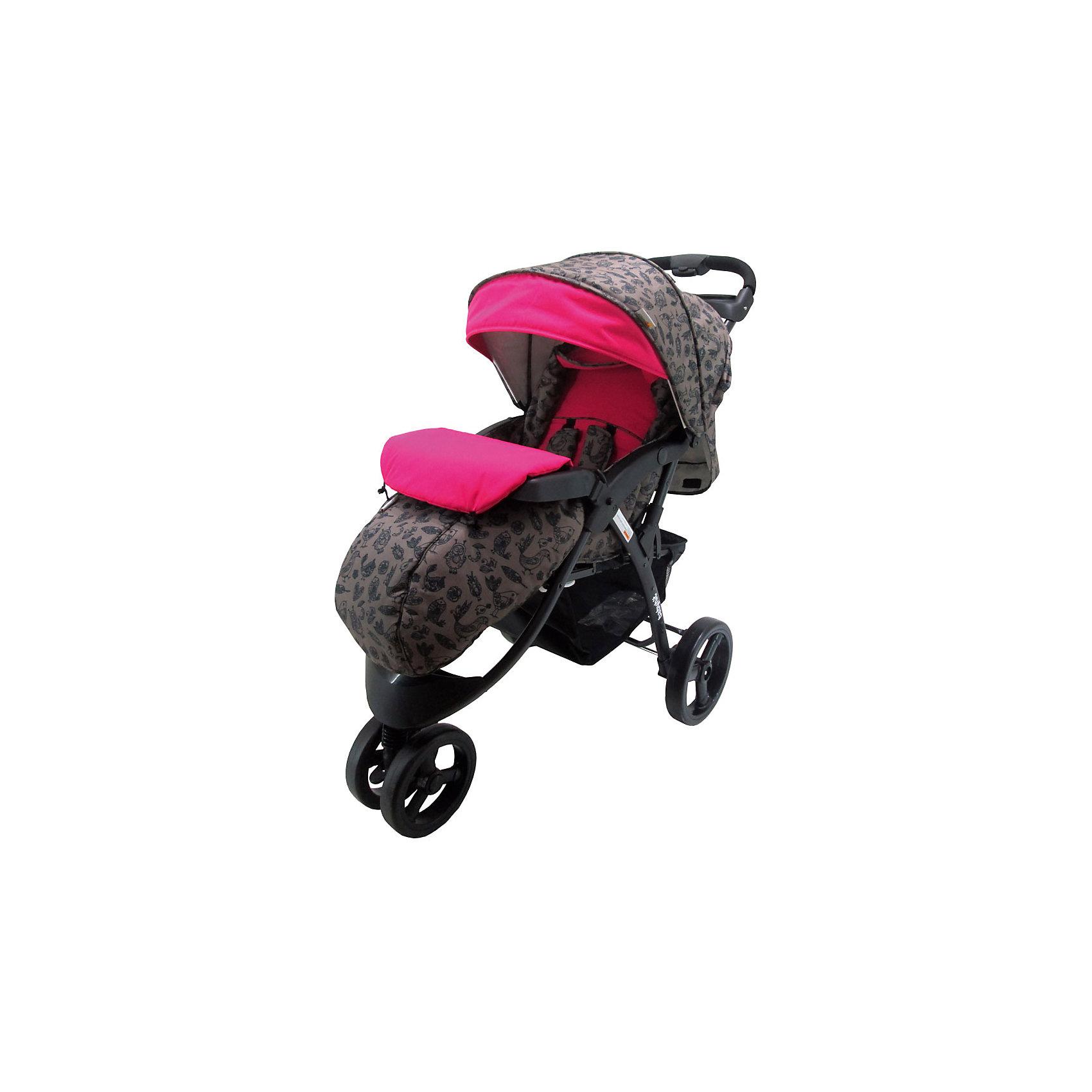 Прогулочная коляска Voyage, BIRDS, Baby Hit, розовыйПрогулочная коляска Voyage, Baby Hit (бэби хит) подходит для детей от 6 месяцев до 3 лет. Благодаря возможности наклона спинки до лежачего  положения, ваш ребенок сможет удобно расположиться в коляске и поспать. Для большего комфорта малыша у данной модели предусмотрены капюшон «батискаф», регулируемая подножка, съемный столик-поручень. Система амортизации на всех колесах.<br>Особенности и преимущества:<br>-капюшон-«батискаф»<br>-удобная корзина для покупок<br>-наклон спинки до лежачего положения<br>Размеры: 80x42x35 см<br>Вес: 11 кг<br>В комплекте: дождевик, москитная сетка, полог.<br>Прогулочную коляску Voyage можно приобрести в нашем интернет-магазине.<br><br>Ширина мм: 350<br>Глубина мм: 420<br>Высота мм: 800<br>Вес г: 14740<br>Возраст от месяцев: 6<br>Возраст до месяцев: 36<br>Пол: Унисекс<br>Возраст: Детский<br>SKU: 4881285