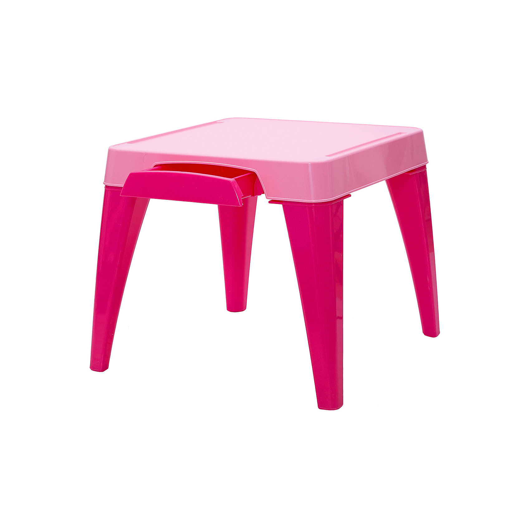 Детский стол Я расту, Little Angel, розовыйМебель<br>Детский стол Я расту, Little Angel, розовый ? это детская мебель серии Я расту от отечественного производителя . Детский стол изготовлен из экологически безопасных материалов ? полипропилена и ПВХ ? это сочетание обеспечивает легкость мебели, прочность, устойчивость к физическим и химическим воздействиям. Окраска стола обладает высокой устойчивостью цвета к внешним воздействиям. <br>Детский стол Я расту, Little Angel, розовый предназначен для детей в возрасте от 2-х лет, подходит для приема пищи, занятий или игр. Является абсолютно безопасным с точки зрения эксплуатации для маленьких детей: у столешницы закругленные углы, ножки стола имеют округлую форму. Сбоку столешницы имеется выдвижной ящик, в котором удобно будет хранить карандаши, фломастеры и краски. На столешнице имеются углубления, что защищает от падения на пол канцелярских принадлежностей, а также не позволяет пролившейся воде из стаканчика стечь на пол или ковер. На ножках стола имеются прорезиненные накладки, которые обеспечивают хорошее сцепление практически с любой поверхностью. <br>Детский стол Я расту, Little Angel, розовый ? идеальное решение для оформления детского уголка не только дома, но и на даче.<br><br>Дополнительная информация:<br><br>- Предназначение: для дома, для детских садов, для детских развивающих центров<br>- Цвет: розовый<br>- Пол: для девочки<br>- Материал: полипропилен, ПВХ<br>- Размер (Д*Ш*В): 57*57*50 см<br>- Вес: 3 кг 588 г<br>- Особенности ухода: разрешается мыть теплой мыльной водой<br><br>Подробнее:<br><br>• Для детей в возрасте: от 2 лет и до 6 лет<br>• Страна производитель: Россия<br>• Торговый бренд: Little Angel<br><br>Детский стол Я расту, Little Angel, розовый можно купить в нашем интернет-магазине.<br><br>Ширина мм: 570<br>Глубина мм: 570<br>Высота мм: 150<br>Вес г: 3588<br>Возраст от месяцев: 24<br>Возраст до месяцев: 72<br>Пол: Женский<br>Возраст: Детский<br>SKU: 4881747