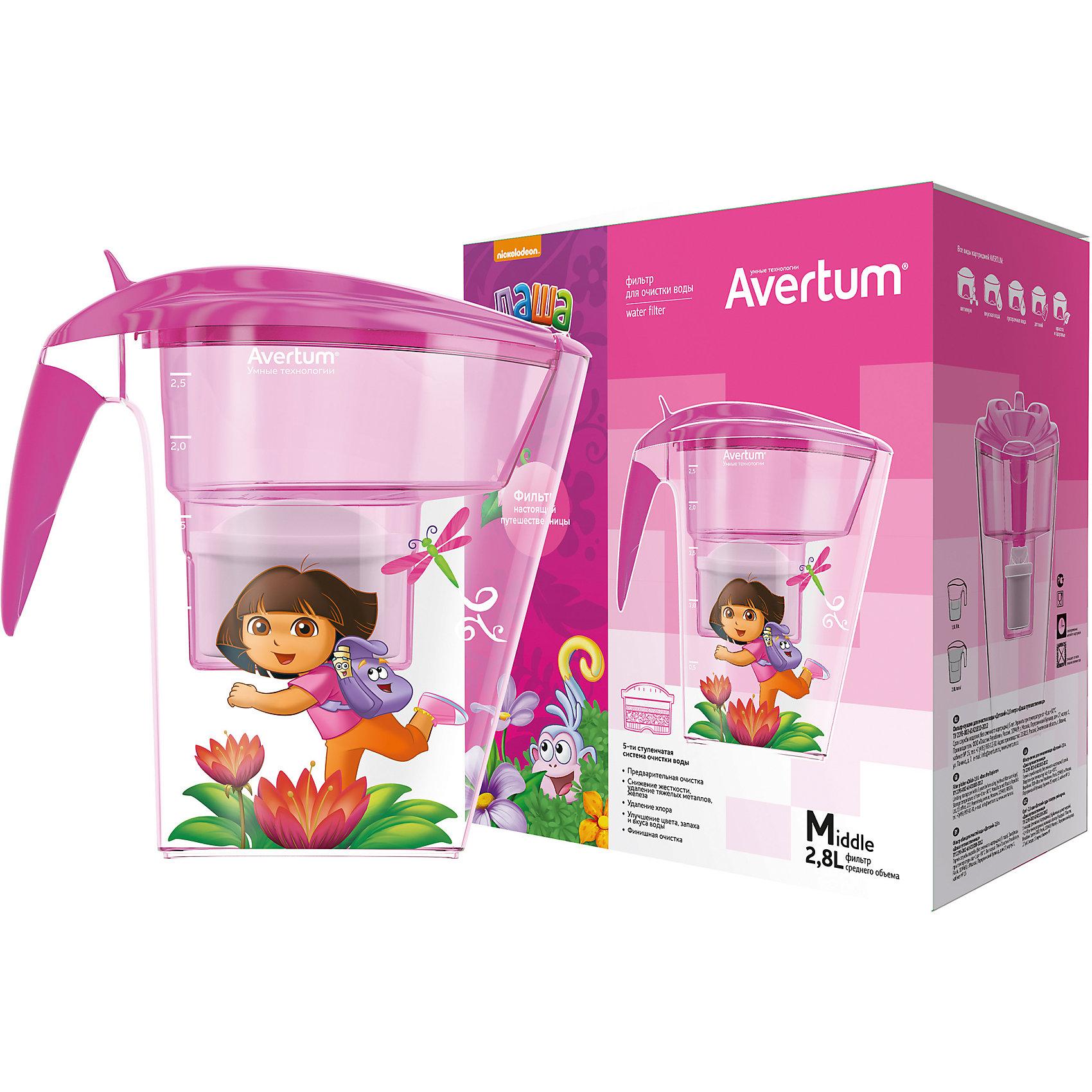 Фильтр-кувшин для очистки воды «Детский» 2,8 л. «Даша путешественница», Little Angel, розовыйФильтр-кувшин для очистки воды «Детский» 2,8 л. «Даша путешественница», Little Angel, розовый изготовлен отечественным производителем . Фильтр выполнен из высококачественного экологически безопасного пластика, который не содержит фенол. Данная серия детских фильтров состоит из кувшина, откидной крышки с клапаном и самого фильтра. Очищение воды проходит через 5-ти ступенчатую фильтрацию, которая позволяет не только очистить воду, но и обогатить ее полезными микроэлементами. Для удобства эксплуатации кувшин оснащен нескользящим дном, на крышке фильтра имеется электронный индикатор ресурса картриджа. Фильтр-кувшин имеет универсальную форму воронки, поэтому к нему подойдут картриджи, отвечающие требованиям европейского стандарта.<br>Фильтр-кувшин для очистки воды «Детский» 2,8 л. «Даша путешественница», Little Angel, розовый выполнен в ярком современном дизайне: на кувшине имеется сюжетная наклейка с путешествующей Дашей.<br>Фильтр-кувшин для очистки воды «Детский» 2,8 л. «Даша путешественница», Little Angel, розовый ? это удобство использования и гарантия чистой и полезной воды.<br><br>Дополнительная информация:<br><br>- Предназначение: для дома<br>- Цвет: розовый<br>- Пол: для девочки<br>- Материал: пластик<br>- Размер (Д*Ш*В): 25,5*15*27,3 см<br>- Объем: 2,8 л<br>- Вес: 854 г<br>- Периодичность смены картриджа: 1 раз в месяц<br>- Особенности ухода: разрешается мыть теплой водой<br><br>Подробнее:<br><br>• Для детей в возрасте: от 3 лет и до 14 лет<br>• Страна производитель: Россия<br>• Торговый бренд: Little Angel<br><br>Фильтр-кувшин для очистки воды «Детский» 2,8 л. «Даша путешественница», Little Angel, розовый можно купить в нашем интернет-магазине.<br><br>Ширина мм: 255<br>Глубина мм: 150<br>Высота мм: 273<br>Вес г: 854<br>Возраст от месяцев: 36<br>Возраст до месяцев: 168<br>Пол: Женский<br>Возраст: Детский<br>SKU: 4881753
