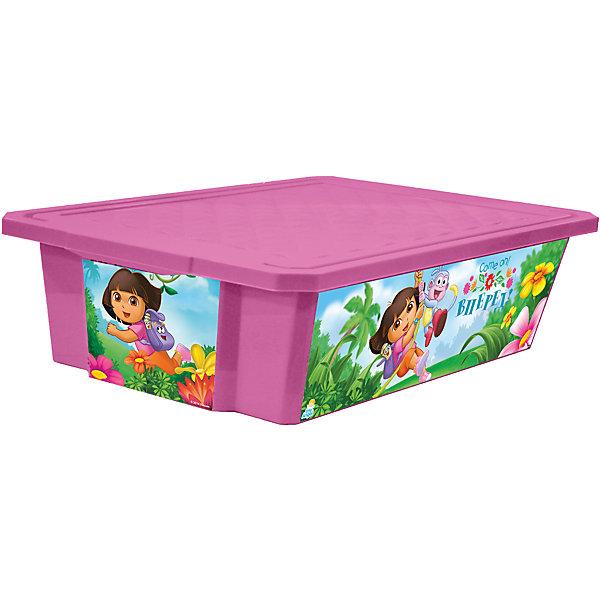 Ящик для хранения игрушек X-BOX Даша путешественница 30л на колесах, Little Angel, розовыйЯщики для игрушек<br>Ящик для хранения игрушек X-BOX Даша путешественница 30 л на колесах, Little Angel, розовый изготовлен отечественным производителем . Выполненный из высококачественного пластика, устойчивого к внешним повреждениям и изменению цвета, ящик станет не только необходимым предметом для хранения детских игрушек и принадлежностей, но и украсит детскую комнату своим ярким дизайном. По бокам ящика с помощью инновационной технологии нанесены картинки, изображающие сюжеты путешествия Даши с ее другом-обезьянкой по имени Башмачок. Ящик оснащен крышкой, что защитит хранящиеся в нем предметы от пыли. Ящик оснащен колесиками, что позволяет его легко передвигать по помещению даже ребенку.<br>Ящик для хранения игрушек X-BOX Даша путешественница 30 л на колесах, Little Angel, розовый достаточно прост в уходе, его можно протирать влажной губкой или мыть в теплой воде. <br><br>Дополнительная информация:<br><br>- Предназначение: для дома<br>- Цвет: розовый<br>- Пол: для девочки<br>- Материал: пластик<br>- Размер (Д*Ш*В): 61*40,5*19,3 см<br>- Объем: 30 л<br>- Вес: 1 кг 314 г<br>- Особенности ухода: разрешается мыть теплой водой<br><br>Подробнее:<br><br>• Для детей в возрасте: от 2 лет и до 7 лет<br>• Страна производитель: Россия<br>• Торговый бренд: Little Angel<br><br>Ящик для хранения игрушек X-BOX Даша путешественница 30 л на колесах, Little Angel, розовый можно купить в нашем интернет-магазине.<br>Ширина мм: 610; Глубина мм: 405; Высота мм: 193; Вес г: 1314; Возраст от месяцев: 24; Возраст до месяцев: 84; Пол: Женский; Возраст: Детский; SKU: 4881757;