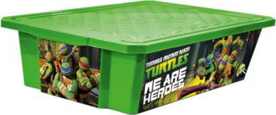 Ящик для хранения игрушек X-BOX Черепашки ниндзя 30л на колесах, Little Angel, зеленый