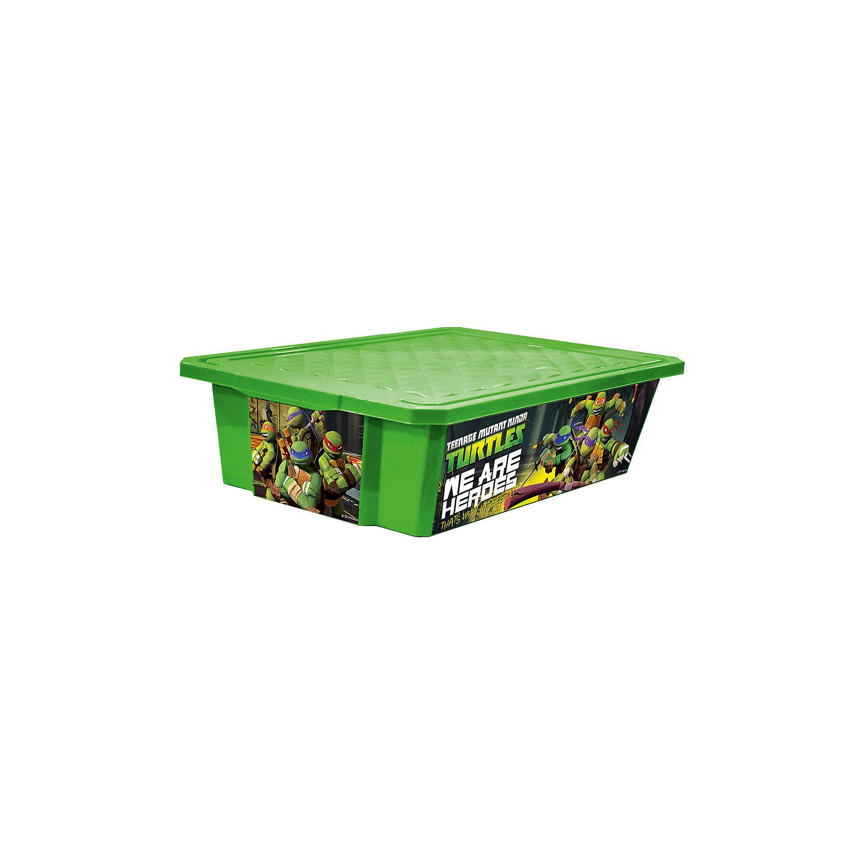 Ящик для хранения игрушек X-BOX Черепашки ниндзя 30л на колесах, Little Angel, зеленыйЯщики для игрушек<br>Ящик для хранения игрушек X-BOX Черепашки ниндзя 30 л на колесах, Little Angel, зеленый изготовлен отечественным производителем . Выполненный из высококачественного пластика, устойчивого к внешним повреждениям и изменению цвета, ящик станет не только необходимым предметом для хранения детских игрушек и принадлежностей, но и украсит детскую комнату своим ярким дизайном. По бокам ящика с помощью инновационной технологии нанесены картинки, изображающие сюжеты популярного фильма Черепашки ниндзя. Ящик оснащен крышкой, что защитит хранящиеся в нем предметы от пыли. Ящик оснащен колесиками, что позволяет его легко передвигать по помещению даже ребенку.<br>Ящик для хранения игрушек X-BOX Черепашки ниндзя 30 л на колесах, Little Angel, зеленый достаточно прост в уходе, его можно протирать влажной губкой или мыть в теплой воде. <br><br>Дополнительная информация:<br><br>- Предназначение: для дома<br>- Цвет: зеленый<br>- Пол: для мальчика<br>- Материал: пластик<br>- Размер (Д*Ш*В): 61*40,5*19,3 см<br>- Объем: 30 л<br>- Вес: 1 кг 314 г<br>- Особенности ухода: разрешается мыть теплой водой<br><br>Подробнее:<br><br>• Для детей в возрасте: от 2 лет и до 7 лет<br>• Страна производитель: Россия<br>• Торговый бренд: Little Angel<br><br>Ящик для хранения игрушек X-BOX Черепашки ниндзя 30 л на колесах, Little Angel, зеленый можно купить в нашем интернет-магазине.<br><br>Ширина мм: 610<br>Глубина мм: 405<br>Высота мм: 193<br>Вес г: 1314<br>Возраст от месяцев: 24<br>Возраст до месяцев: 84<br>Пол: Мужской<br>Возраст: Детский<br>SKU: 4881758