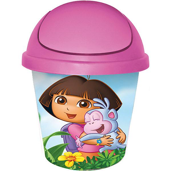 Мусорная корзина круглая 7л. Даша путешественница, Little Angel, розовыйМусорные ведра<br>Мусорная корзина круглая 7 л Даша путешественница, Little Angel, розовый изготовлена отечественным производителем . Выполненная из высококачественного пластика, устойчивого к внешним повреждениям и изменению цвета, корзина позволит не только поддерживать чистоту, но и украсит детскую комнату своим ярким дизайном. По бокам корзины с помощью инновационной технологии нанесены картинки, изображающие Дашу с ее другом-обезьянкой по имени Башмачок.<br>Мусорная корзина оснащена вращающейся откидной крышкой, которая снимается, что позволит аккуратно убирать мусор, вставлять мусорный мешок, а также мыть. <br><br>Дополнительная информация:<br><br>- Предназначение: для дома<br>- Цвет: розовый<br>- Пол: для девочки<br>- Материал: пластик<br>- Размер (Д*Ш*В): 26,7*26,7*33 см<br>- Объем: 7 л<br>- Вес: 370 г<br>- Особенности ухода: разрешается мыть теплой водой<br><br>Подробнее:<br><br>• Для детей в возрасте: от 2 лет и до 7 лет<br>• Страна производитель: Россия<br>• Торговый бренд: Little Angel<br><br>Мусорную корзину круглую 7 л Даша путешественница, Little Angel, розовый можно купить в нашем интернет-магазине.<br><br>Ширина мм: 267<br>Глубина мм: 267<br>Высота мм: 330<br>Вес г: 370<br>Возраст от месяцев: 24<br>Возраст до месяцев: 84<br>Пол: Женский<br>Возраст: Детский<br>SKU: 4881763
