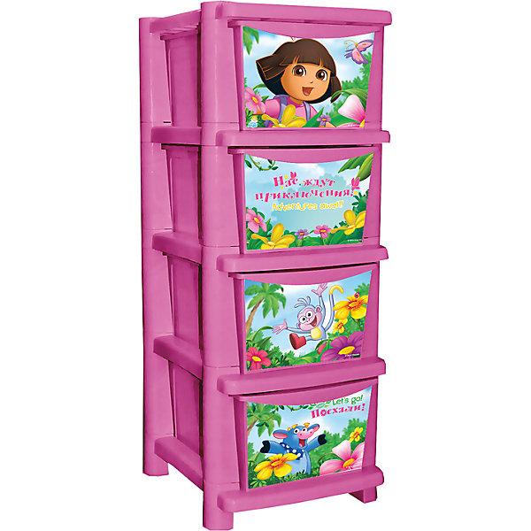 Комод для детской комнаты Даша путешественница 335мм, Little Angel, розовыйДетские комоды<br>Комод для детской комнаты Даша путешественница 335 мм, Little Angel, розовый ? это детская мебель от отечественного производителя . Комод изготовлен из экологически безопасного материала ? полипропилена, который обеспечивает легкость конструкции, прочность, устойчивость к физическим и химическим воздействиям. Окраска комода обладает высокой устойчивостью цвета к внешним воздействиям.<br>Комод для детской комнаты Даша путешественница 335 мм, Little Angel, розовый предназначен для детей в возрасте от 2-х лет. Конструкция и устройство комода полностью отвечают требованиям безопасности: у комода отсутствуют острые углы, у него прочное устойчивое основание, ящики выдвигаются легко. Комод состоит из четырех секций с ящиками, ящики вместительные, глубокие. Верхнее основание комода можно использовать в качестве полки.<br>Комод для детской комнаты Даша путешественница 335 мм, Little Angel, розовый выполнен в ярком красочном дизайне: на выдвижных ящиках нанесены устойчивые к истиранию картинки Даши с ее друзьями из мультсериала Даша-путешественница. <br><br>Дополнительная информация:<br><br>- Предназначение: для дома<br>- Цвет: розовый<br>- Пол: для девочки<br>- Материал: полипропилен<br>- Размер (Д*Ш*В): 42*34,5*40,5 см<br>- Количество ящиков: 4 шт.<br>- Вес: 4 кг 915 г<br>- Особенности ухода: разрешается протирать влажной губкой<br><br>Подробнее:<br><br>• Для детей в возрасте: от 2 лет и до 7 лет<br>• Страна производитель: Россия<br>• Торговый бренд: Little Angel<br><br>Комод для детской комнаты Даша путешественница 335 мм, Little Angel, розовый можно купить в нашем интернет-магазине.<br><br>Ширина мм: 420<br>Глубина мм: 345<br>Высота мм: 405<br>Вес г: 4915<br>Возраст от месяцев: 24<br>Возраст до месяцев: 84<br>Пол: Женский<br>Возраст: Детский<br>SKU: 4881766