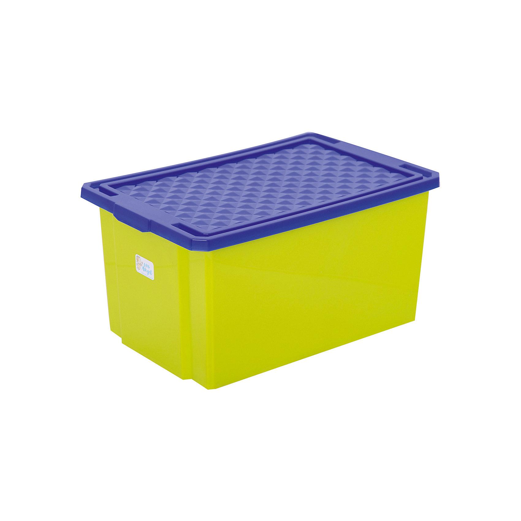 Ящик для хранения игрушек большой 57л на колесах, Little Angel, фисташковыйПорядок в детской<br>Ящик для хранения игрушек большой 57 л на колесах, Little Angel, фисташковый изготовлен отечественным производителем . Выполненный из высококачественного пластика, устойчивого к внешним повреждениям и изменению цвета, ящик станет не только необходимым предметом для хранения детских игрушек и принадлежностей, но и украсит детскую комнату своим ярким дизайном. Ящик оснащен крышкой, что защитит хранящиеся в нем предметы от пыли. Ящик оснащен колесиками, что позволяет его легко передвигать по помещению даже ребенку.<br>Ящик для хранения игрушек большой 57 л на колесах, Little Angel, фисташковый достаточно прост в уходе, его можно протирать влажной губкой или мыть в теплой воде. <br><br>Дополнительная информация:<br><br>- Предназначение: для дома<br>- Цвет: фисташковый<br>- Пол: для мальчика/для девочки<br>- Материал: пластик<br>- Размер (Д*Ш*В): 61*40,5*33 см<br>- Объем: 57 л<br>- Вес: 1 кг 956 г<br>- Особенности ухода: разрешается мыть теплой водой<br><br>Подробнее:<br><br>• Для детей в возрасте: от 2 лет и до 7 лет<br>• Страна производитель: Россия<br>• Торговый бренд: Little Angel<br><br>Ящик для хранения игрушек большой 57 л на колесах, Little Angel, фисташковый можно купить в нашем интернет-магазине.<br><br>Ширина мм: 610<br>Глубина мм: 405<br>Высота мм: 330<br>Вес г: 1956<br>Возраст от месяцев: 24<br>Возраст до месяцев: 84<br>Пол: Унисекс<br>Возраст: Детский<br>SKU: 4881774