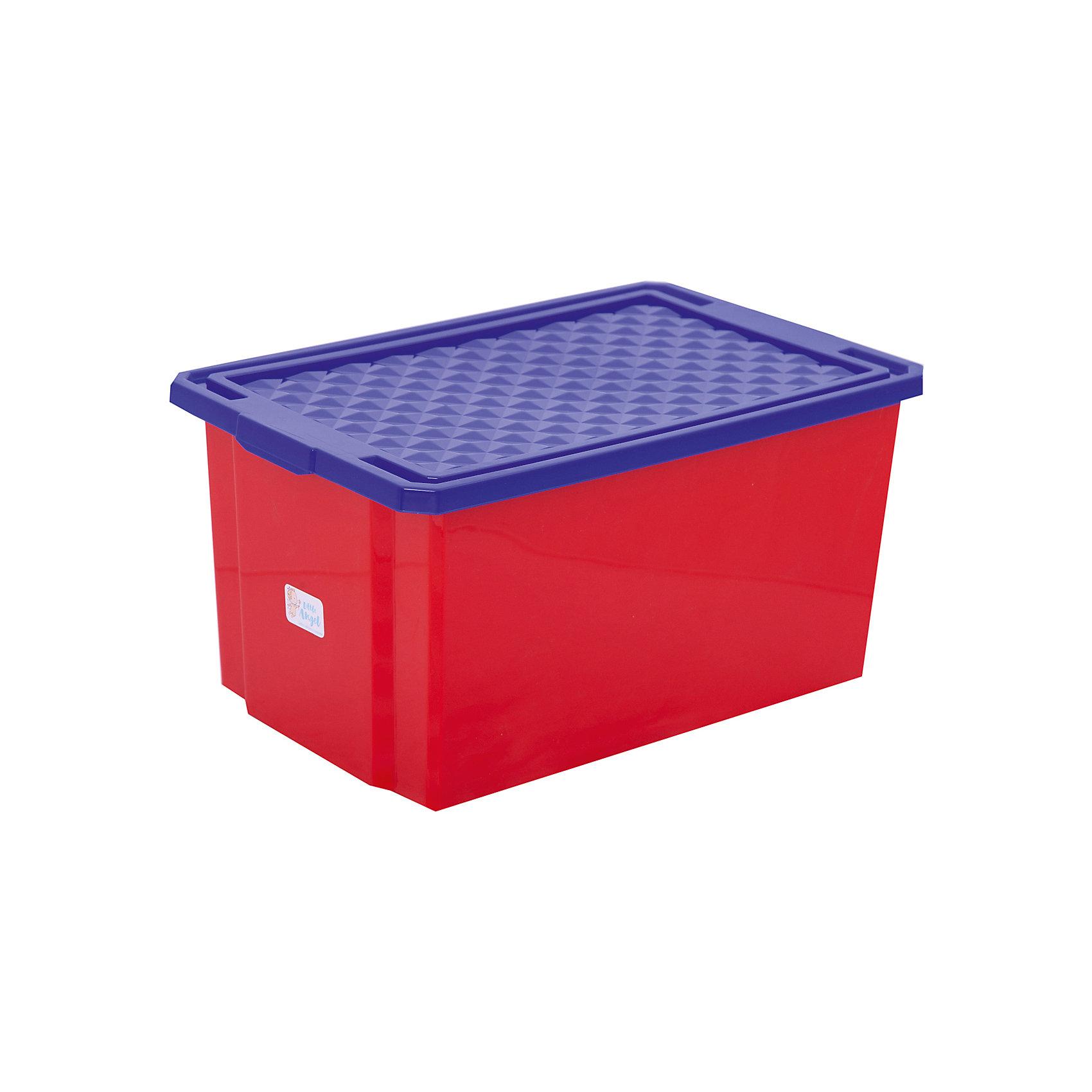 Little Angel Ящик для хранения игрушек большой 57л на колесах, Little Angel, красный лего автодома на колесах бу купить в испании