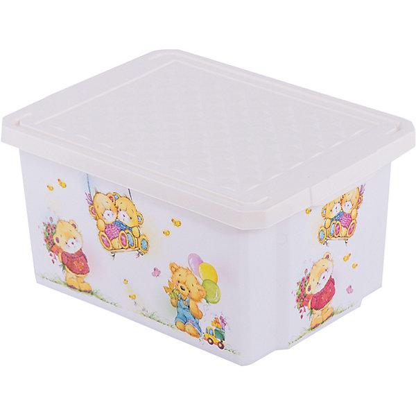 Ящик для хранения игрушек X-BOX Bears 17л, Little Angel, слоновая костьЯщики для игрушек<br>Ящик для хранения игрушек X-BOX Bears 17 л, Little Angel, слоновая кость изготовлен отечественным производителем . Выполненный из высококачественного пластика, устойчивого к внешним повреждениям и изменению цвета, ящик станет не только необходимым предметом для хранения детских игрушек и принадлежностей, но и украсит детскую комнату своим ярким дизайном. По бокам ящика с помощью инновационной технологии нанесены картинки, изображающие милых медвежат.<br>Ящик оснащен крышкой, что защитит хранящиеся в нем предметы от пыли. Компактный размер ящика идеально подходит для хранения принадлежностей для детского творчества: рисования, лепки, аппликации или рукоделия. <br>Ящик для хранения игрушек X-BOX Bears 17 л, Little Angel, слоновая кость достаточно прост в уходе, его можно протирать влажной губкой или мыть в теплой воде. <br><br>Дополнительная информация:<br><br>- Предназначение: для дома<br>- Цвет: слоновая кость, розовый<br>- Пол: для девочки<br>- Материал: пластик<br>- Размер (Д*Ш*В): 40,5*30,5*21 см<br>- Объем: 17 л<br>- Вес: 661 г<br>- Особенности ухода: разрешается мыть теплой водой<br><br>Подробнее:<br><br>• Для детей в возрасте: от 2 лет и до 7 лет<br>• Страна производитель: Россия<br>• Торговый бренд: Little Angel<br><br>Ящик для хранения игрушек X-BOX Bears 17 л, Little Angel, слоновая кость можно купить в нашем интернет-магазине.<br>Ширина мм: 405; Глубина мм: 305; Высота мм: 210; Вес г: 661; Возраст от месяцев: 24; Возраст до месяцев: 84; Пол: Унисекс; Возраст: Детский; SKU: 4881777;