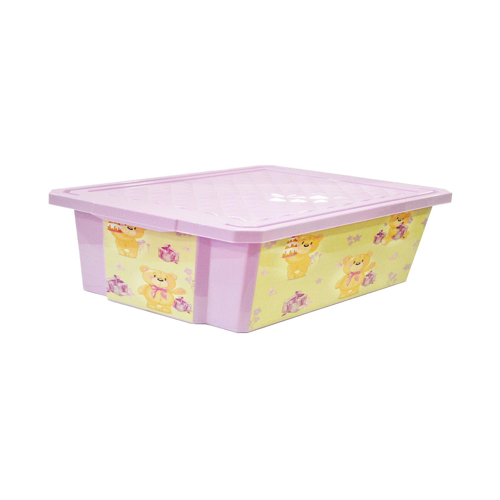 Ящик для хранения игрушек X-BOX Bears 30л, Little Angel, лавандовыйПорядок в детской<br>Ящик для хранения игрушек X-BOX Bears 30 л, Little Angel, лавандовый изготовлен отечественным производителем . Выполненный из высококачественного пластика, устойчивого к внешним повреждениям и изменению цвета, ящик станет не только необходимым предметом для хранения детских игрушек и принадлежностей, но и украсит детскую комнату своим ярким дизайном. Он выполнен лавандовом цвете, по бокам нанесены устойчивые к повреждению изображения медвежат. Ящик оснащен крышкой, что защитит хранящиеся в нем предметы от пыли. <br>Ящик для хранения игрушек X-BOX Bears, Little Angel, лавандовый достаточно прост в уходе, его можно протирать влажной губкой или мыть в теплой воде. <br><br>Дополнительная информация:<br><br>- Предназначение: для дома<br>- Цвет: лавандовый, розовый<br>- Пол: для девочки<br>- Материал: пластик<br>- Размер (Д*Ш*В): 61*40,5*19,3 см<br>- Объем: 30 л<br>- Особенности ухода: разрешается мыть теплой водой<br><br>Подробнее:<br><br>• Для детей в возрасте: от 2 лет и до 7 лет<br>• Страна производитель: Россия<br>• Торговый бренд: Little Angel<br><br>Ящик для хранения игрушек X-BOX Bears 30 л на колесах, Little Angel, лавандовый можно купить в нашем интернет-магазине.<br><br>Ширина мм: 610<br>Глубина мм: 405<br>Высота мм: 193<br>Вес г: 1314<br>Возраст от месяцев: 24<br>Возраст до месяцев: 84<br>Пол: Унисекс<br>Возраст: Детский<br>SKU: 4881780