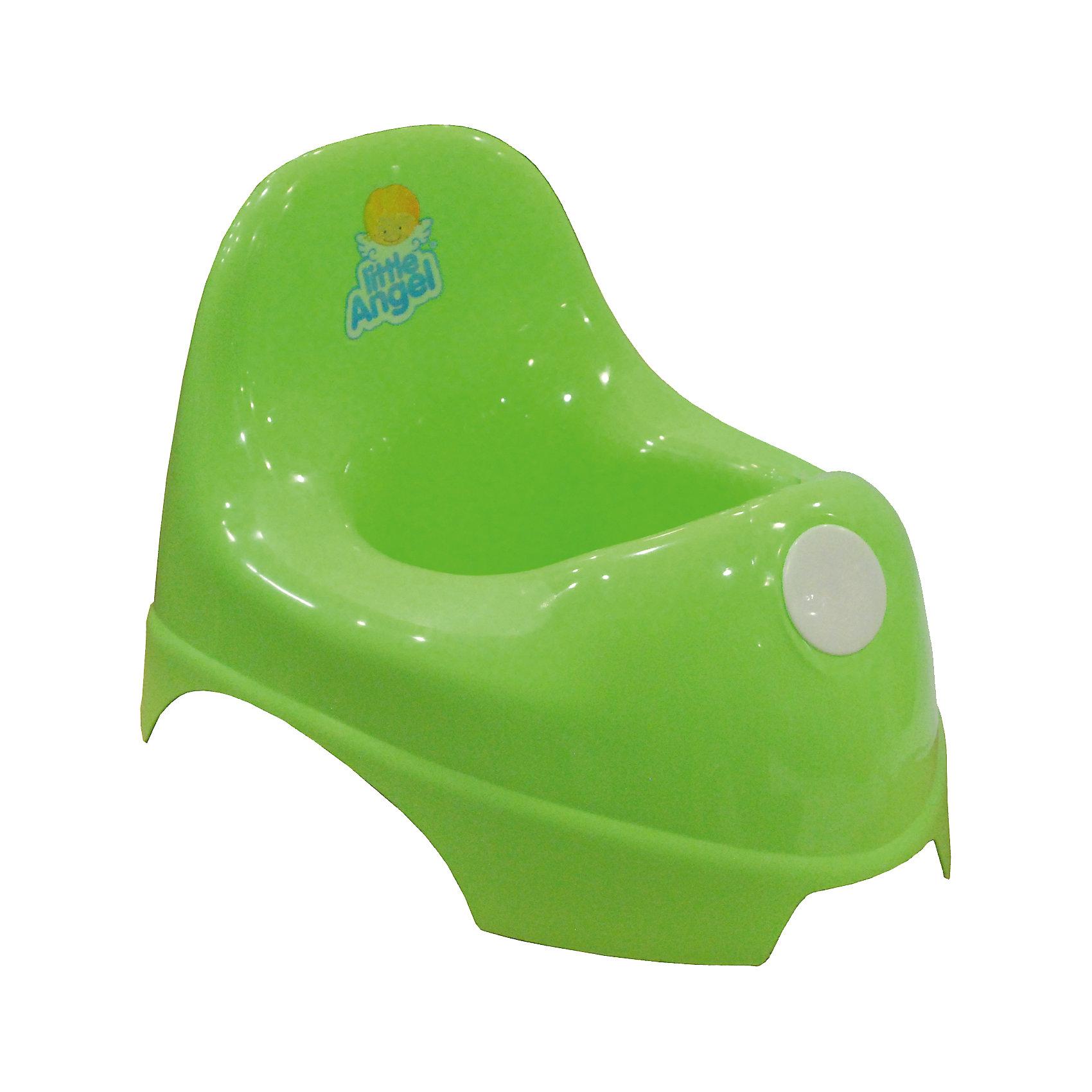 Горшок, Little Angel, салатовыйГоршок, Little Angel, салатовый изготовлен отечественным производителем  из высококачественного экологически безопасного и прочного пластика. Горшок классической формы, имеет овальную продолговатую форму с широкими бортиками, что обеспечивает удобство ребенку любой комплекции. Сзади имеется невысокая, но удобная спинка. Горшок отличается высокой устойчивостью, что защищает его от опрокидывания.     <br>Горшок, Little Angel, салатовый имеет компактные размеры, поэтому его можно брать с собой в путешествия. Кроме того, он достаточно прост в уходе ? легко моется водой.<br><br>Дополнительная информация:<br><br>- Предназначение: для дома<br>- Цвет: салатовый<br>- Пол: для мальчика/для девочки<br>- Материал: пластик<br>- Размер (Д*Ш*В): 35,5*23*22,5 см<br>- Вес: 318 г<br>- Особенности ухода: разрешается мыть<br><br>Подробнее:<br><br>• Для детей в возрасте: от 0 лет и до 3 лет<br>• Страна производитель: Россия<br>• Торговый бренд: Little Angel<br><br>Горшок, Little Angel, салатовый можно купить в нашем интернет-магазине.<br><br>Ширина мм: 355<br>Глубина мм: 230<br>Высота мм: 225<br>Вес г: 318<br>Возраст от месяцев: 0<br>Возраст до месяцев: 36<br>Пол: Унисекс<br>Возраст: Детский<br>SKU: 4881792