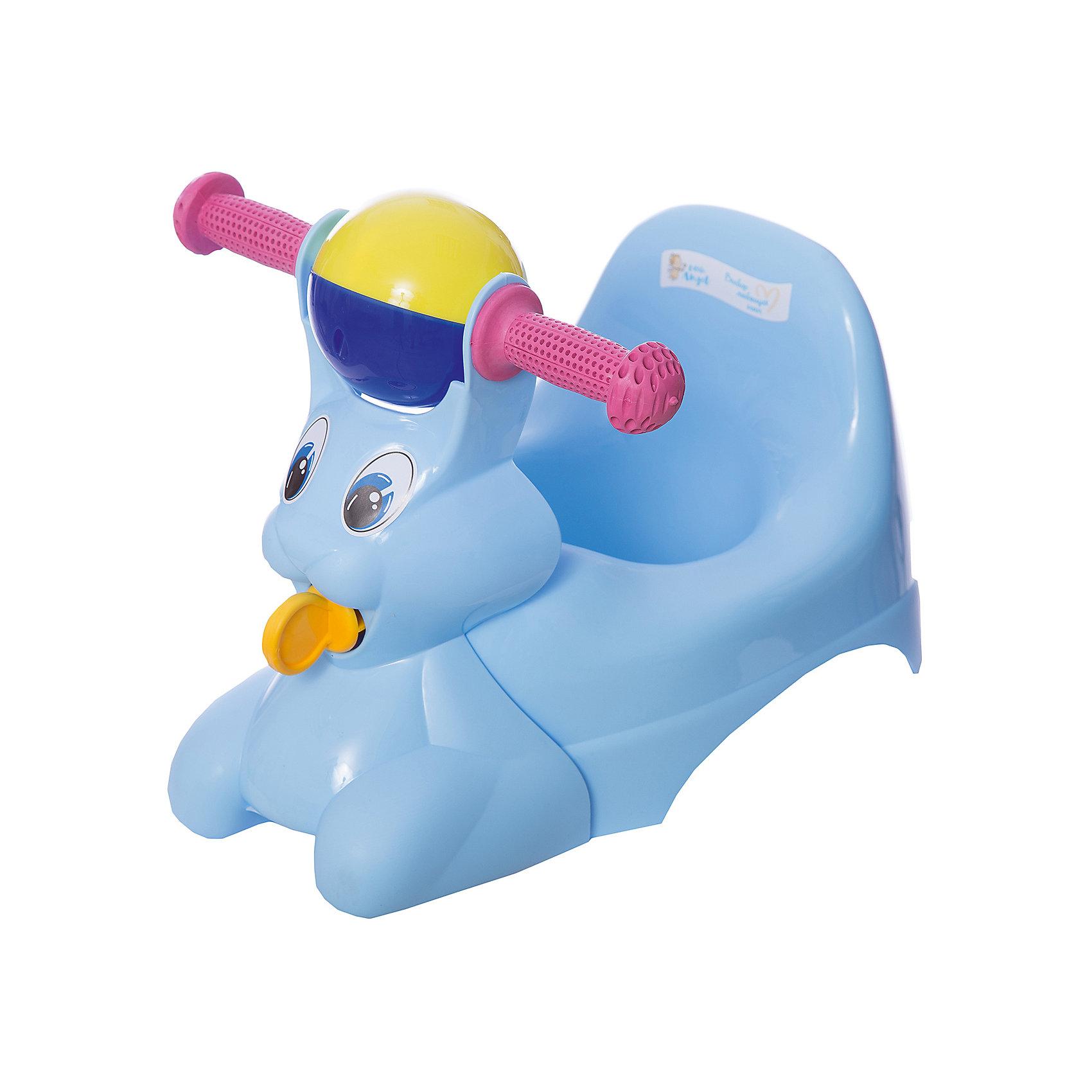 Горшок-игрушка Зайчик, Little Angel, голубойГоршки, сиденья для унитаза, стульчики-подставки<br>Горшок-игрушка Зайчик, Little Angel, голубой изготовлен отечественным производителем  из высококачественного экологически безопасного и прочного пластика. Горшок состоит из двух частей: самого горшка и прикрепляющейся к его корпусу игрушки. Игрушка имеет форму зайчика с двумя ручками и погремушкой посередине. Сам горшок имеет классическую анатомическую форму, поэтому подходит как для мальчиков, так и для девочек. Горшок отличается высокой устойчивостью, что защищает его от опрокидывания. Кроме того, он достаточно прост в уходе ? легко моется водой. Эксплуатировать горшок можно как с игрушкой, так и без нее.<br><br>Дополнительная информация:<br><br>- Предназначение: для дома<br>- Цвет: голубой<br>- Пол: для мальчика<br>- Материал: пластик<br>- Размер (Д*Ш*В): 42*29*31 см<br>- Вес: 715 г<br>- Особенности ухода: разрешается мыть<br><br>Подробнее:<br><br>• Для детей в возрасте: от 0 лет и до 3 лет<br>• Страна производитель: Россия<br>• Торговый бренд: Little Angel<br><br>Горшок-игрушка Зайчик, Little Angel, голубой можно купить в нашем интернет-магазине.<br><br>Ширина мм: 420<br>Глубина мм: 290<br>Высота мм: 310<br>Вес г: 715<br>Возраст от месяцев: 0<br>Возраст до месяцев: 36<br>Пол: Мужской<br>Возраст: Детский<br>SKU: 4881803