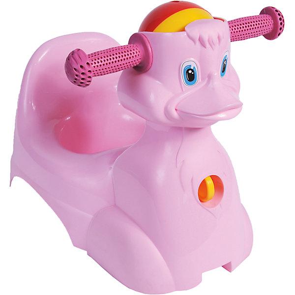 Горшок-игрушка Уточка, Little Angel, розовыйДетские горшки и писсуары<br>Горшок-игрушка Уточка, Little Angel, розовый изготовлен отечественным производителем  из высококачественного экологически безопасного и прочного пластика. Горшок состоит из двух частей: самого горшка и прикрепляющейся к его корпусу игрушки. Игрушка имеет форму уточки с двумя ручками и погремушкой посередине. Сам горшок имеет классическую анатомическую форму, поэтому подходит как для мальчиков, так и для девочек. Горшок отличается высокой устойчивостью, что защищает его от опрокидывания. Кроме того, он достаточно прост в уходе ? легко моется водой. Эксплуатировать горшок можно как с игрушкой, так и без нее.<br><br>Дополнительная информация:<br><br>- Предназначение: для дома<br>- Цвет: розовый<br>- Пол: для девочки<br>- Материал: пластик<br>- Размер (Д*Ш*В): 43,5*29*33 см<br>- Вес: 782 г<br>- Особенности ухода: разрешается мыть<br><br>Подробнее:<br><br>• Для детей в возрасте: от 0 лет и до 3 лет<br>• Страна производитель: Россия<br>• Торговый бренд: Little Angel<br><br>Горшок-игрушка Уточка, Little Angel, розовый можно купить в нашем интернет-магазине.<br><br>Ширина мм: 435<br>Глубина мм: 290<br>Высота мм: 330<br>Вес г: 782<br>Возраст от месяцев: 0<br>Возраст до месяцев: 36<br>Пол: Женский<br>Возраст: Детский<br>SKU: 4881804
