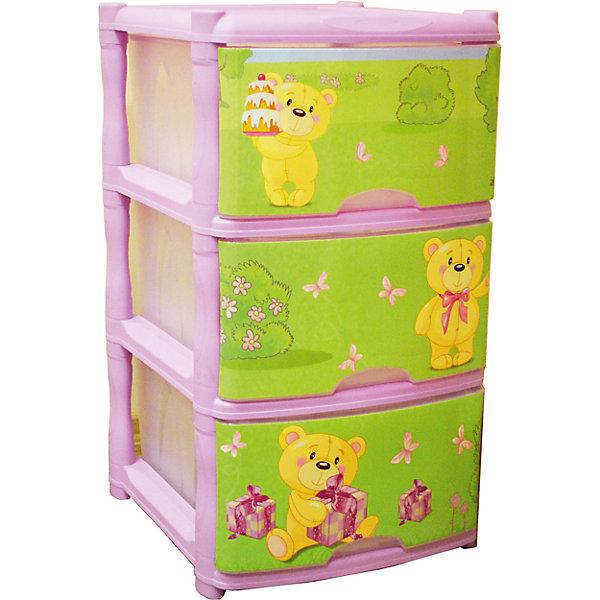 Комод для детской комнаты Bears Tutti 3 ящика, Little Angel, лавандовыйДетские комоды<br>Комод для детской комнаты Bears Tutti 3 ящика, Little Angel, лавандовый ? это детская мебель от отечественного производителя . Комод изготовлен из экологически безопасного материала ? полипропилена, который обеспечивает легкость конструкции, прочность, устойчивость к физическим и химическим воздействиям. Окраска комода обладает высокой устойчивостью цвета к внешним воздействиям.<br>Комод для детской комнаты Bears Tutti 3 ящика, Little Angel, лавандовый предназначен для детей в возрасте от 2-х лет. Конструкция и устройство комода полностью отвечают требованиям безопасности: у комода отсутствуют острые углы, у него прочное устойчивое основание, ящики выдвигаются легко. Комод состоит из трех секций с  ящиками, ящики вместительные, глубокие. Верхнее основание комода можно использовать в качестве полки. Дизайн комода выполнен в нежных пастельных тонах: на ящики нанесены устойчивые к износу изображения медвежат.<br> <br>Дополнительная информация:<br><br>- Предназначение: для дома<br>- Цвет: лавандовый, розовый<br>- Пол: для девочки<br>- Материал: полипропилен<br>- Размер (Д*Ш*В): 50*41,5*45 см<br>- Количество ящиков: 3 шт.<br>- Вес: 4 кг 091 г<br>- Особенности ухода: разрешается протирать влажной губкой<br><br>Подробнее:<br><br>• Для детей в возрасте: от 2 лет и до 7 лет<br>• Страна производитель: Россия<br>• Торговый бренд: Little Angel<br><br>Комод для детской комнаты Bears Tutti 3 ящика, Little Angel, лавандовый можно купить в нашем интернет-магазине.<br><br>Ширина мм: 500<br>Глубина мм: 415<br>Высота мм: 450<br>Вес г: 4091<br>Возраст от месяцев: 24<br>Возраст до месяцев: 84<br>Пол: Унисекс<br>Возраст: Детский<br>SKU: 4881810