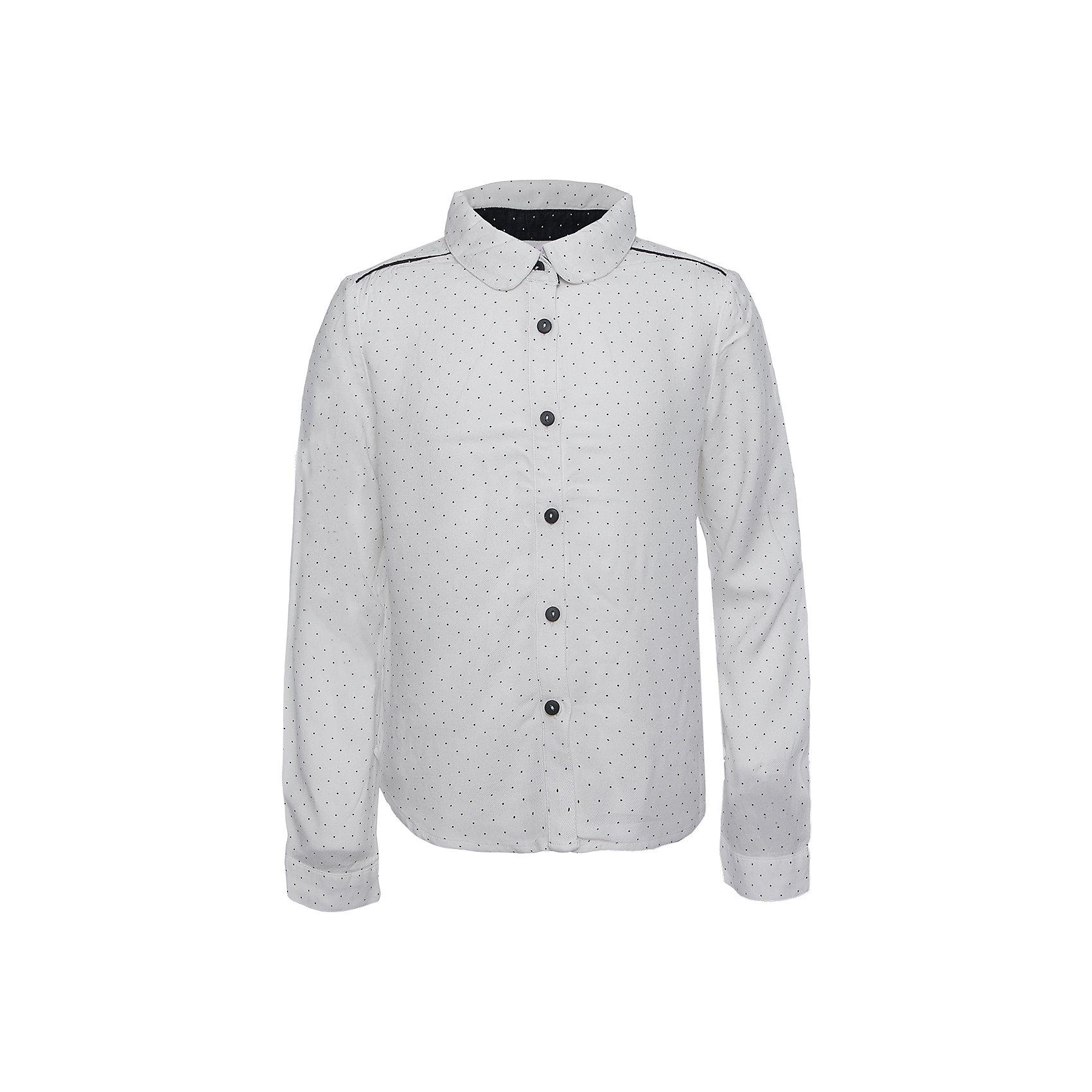 Блузка для девочки SELAБлузки и рубашки<br>Такая стильная блузка в мелкий горошек будет по вкусу каждой моднице. <br>Блузка свободного кроя, поэтому она отлично подойдет к юбке и брюкам.<br><br>Дополнительная информация:<br><br>- Свободный крой.<br>- Длинный рукав, с манжетой.<br>- Цвет: белый.<br>- Состав: вискоза - 100%<br>- Бренд: SELA<br>- Коллекция: осень-зима 2016-2017<br><br>Купить блузку для девочки от SELA можно в нашем магазине.<br><br>Ширина мм: 186<br>Глубина мм: 87<br>Высота мм: 198<br>Вес г: 197<br>Цвет: белый<br>Возраст от месяцев: 132<br>Возраст до месяцев: 144<br>Пол: Женский<br>Возраст: Детский<br>Размер: 152,116,122,128,134,140,146<br>SKU: 4883404