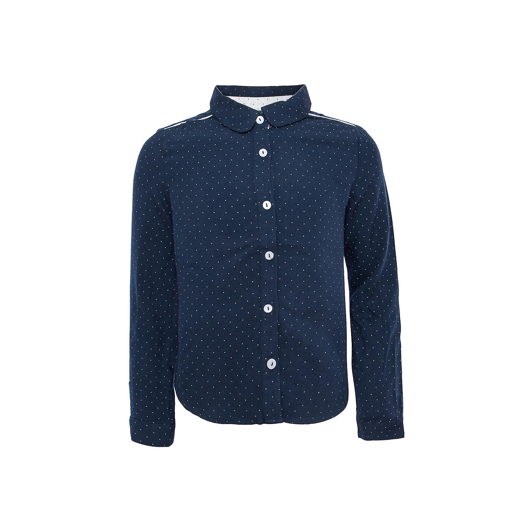 Блузка для девочки SELAБлузки и рубашки<br>Такая стильная блузка в мелкий горошек будет по вкусу каждой моднице. <br>Блузка свободного кроя, поэтому она отлично подойдет к юбке и брюкам.<br><br>Дополнительная информация:<br><br>- Свободный крой.<br>- Длинный рукав, с манжетой.<br>- Цвет: темно-синий.<br>- Состав: вискоза - 100%<br>- Бренд: SELA<br>- Коллекция: осень-зима 2016-2017<br><br>Купить блузку для девочки от SELA можно в нашем магазине.<br><br>Ширина мм: 186<br>Глубина мм: 87<br>Высота мм: 198<br>Вес г: 197<br>Цвет: синий<br>Возраст от месяцев: 60<br>Возраст до месяцев: 72<br>Пол: Женский<br>Возраст: Детский<br>Размер: 116,152,122,128,134,140,146<br>SKU: 4883412