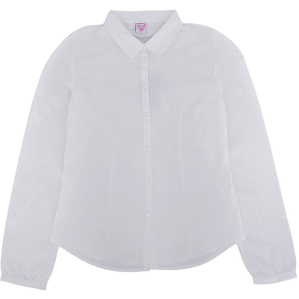Блузка для девочки SELAБлузки и рубашки<br>Нежная блузка с красивым воротничком для девочки необходимый атрибут в гардеробе юной леди.<br><br>У блузки приталенный крой, поэтому она хорошо будет смотреться с юбками и брюками, так же ее можно одеть под аккуратный школьный сарафан.<br><br>Дополнительная информация:<br><br>- Приталенный крой.<br>- Длинный рукав, с манжетой.<br>- Состав: хлопок - 100%<br>- Бренд: SELA<br>- Коллекция: осень-зима 2016-2017<br><br>Купить блузку для девочки от SELA можно в нашем магазине.<br><br>Ширина мм: 186<br>Глубина мм: 87<br>Высота мм: 198<br>Вес г: 197<br>Цвет: белый<br>Возраст от месяцев: 156<br>Возраст до месяцев: 168<br>Пол: Женский<br>Возраст: Детский<br>Размер: 164,152,170,158<br>SKU: 4883444