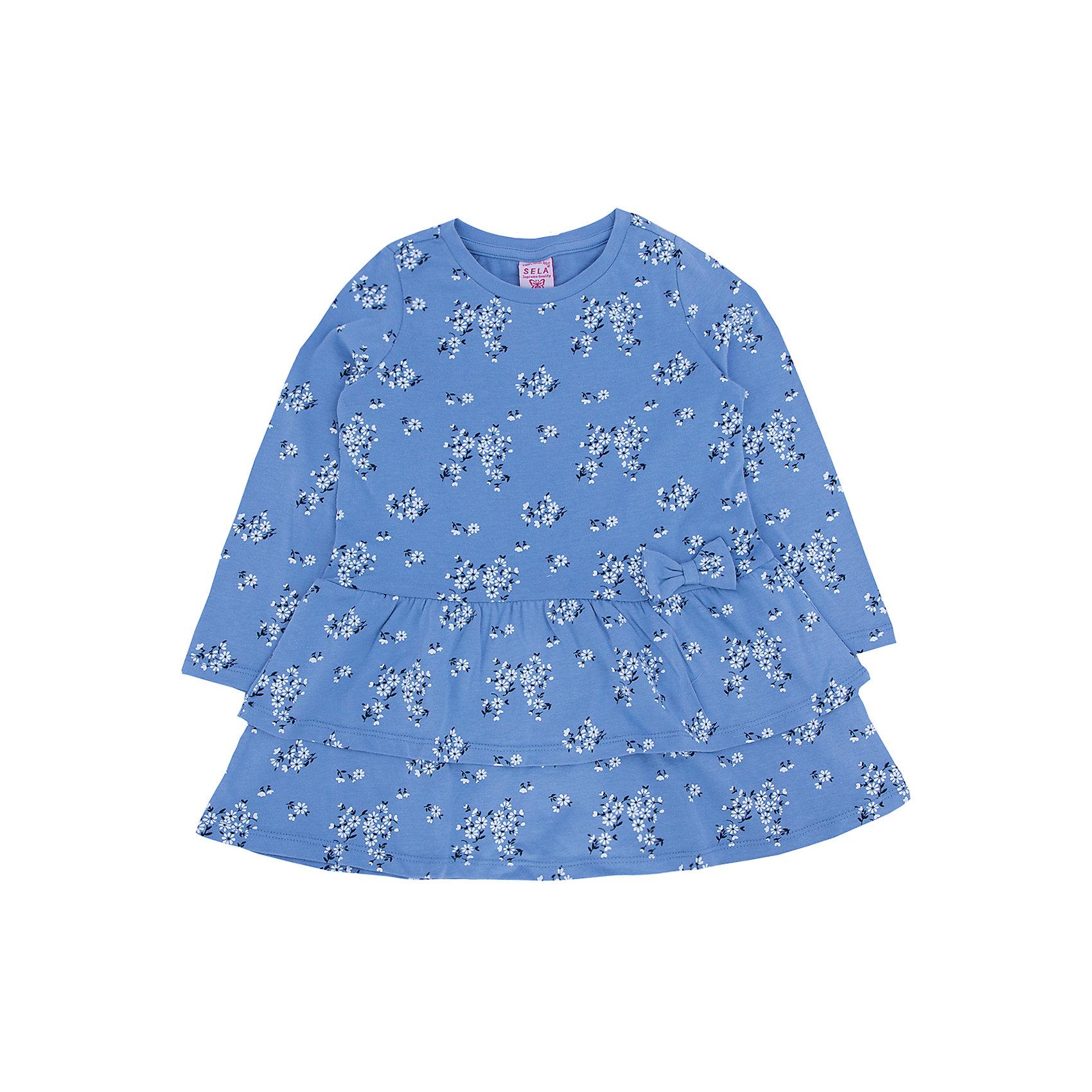 Платье для девочки SELAПлатья и сарафаны<br>Нежное и очень удобное платье для девочки.<br>Такое платье очень универсально, его можно одеть как в школу, так и на какой-нибудь праздник или пойти в нем гулять.<br>Ваша малышка будет с удовольствием его носить.<br><br>Дополнительная информация:<br><br>- Свободный крой.<br>- Длинный рукав, длина до колен, силуэт расширенный к низу.<br>- Цвет: деним.<br>- Состав: хлопок - 100%<br>- Бренд: SELA<br>- Коллекция: осень-зима 2016-2017<br><br>Купить платье для девочки от SELA можно в нашем магазине.<br><br>Ширина мм: 236<br>Глубина мм: 16<br>Высота мм: 184<br>Вес г: 177<br>Цвет: синий<br>Возраст от месяцев: 60<br>Возраст до месяцев: 72<br>Пол: Женский<br>Возраст: Детский<br>Размер: 116,92,98,104,110<br>SKU: 4883486