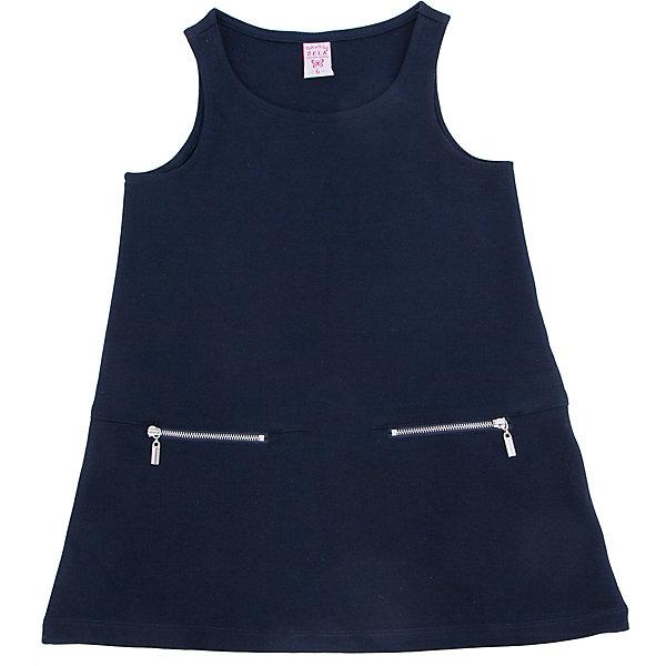 Платье для девочки SELAПлатья и сарафаны<br>Универсальное платье-сарафан. Оно прекрасно сочетается с любой рубашкой или водолазкой.<br><br>Дополнительная информация:<br><br>- Свободный крой.<br>- Длина до колен, силуэт расклешенный. <br>- Цвет: темно-синий.<br>- Состав: 65% хлопок, 35% ПЭ.<br>- Бренд: SELA<br>- Коллекция: осень-зима 2016-2017<br><br>Купить платье для девочки от SELA можно в нашем магазине.<br><br>Ширина мм: 236<br>Глубина мм: 16<br>Высота мм: 184<br>Вес г: 177<br>Цвет: синий<br>Возраст от месяцев: 156<br>Возраст до месяцев: 168<br>Пол: Женский<br>Возраст: Детский<br>Размер: 164,152,170,158<br>SKU: 4883517