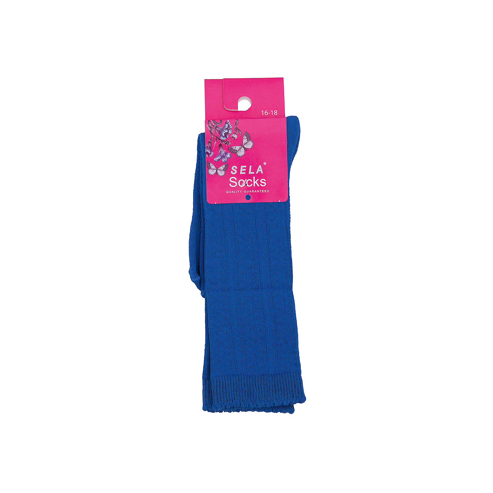 Носки для девочки SELAНоски<br>Удобные носки - неотъемлемая составляющая комфорта ребенка. Эта модель отлично сидит на девочке, она сшита из приятного на ощупь материала, мягкая и дышащая. Натуральный хлопок в составе ткани не вызывает аллергии и обеспечивает ребенку комфорт. Мягкая резинка не сдавливает ногу.<br>Одежда от бренда Sela (Села) - это качество по приемлемым ценам. Многие российские родители уже оценили преимущества продукции этой компании и всё чаще приобретают одежду и аксессуары Sela.<br><br>Дополнительная информация:<br><br>высокие;<br>материал: 75% хлопок, 23% ПЭ, 2% спандекс;<br>мягкая резинка;<br>трикотаж.<br><br>Носки для девочки от бренда Sela можно купить в нашем интернет-магазине.<br><br>Ширина мм: 87<br>Глубина мм: 10<br>Высота мм: 105<br>Вес г: 115<br>Цвет: голубой<br>Возраст от месяцев: 15<br>Возраст до месяцев: 18<br>Пол: Женский<br>Возраст: Детский<br>Размер: 22,16,18,20<br>SKU: 4883678