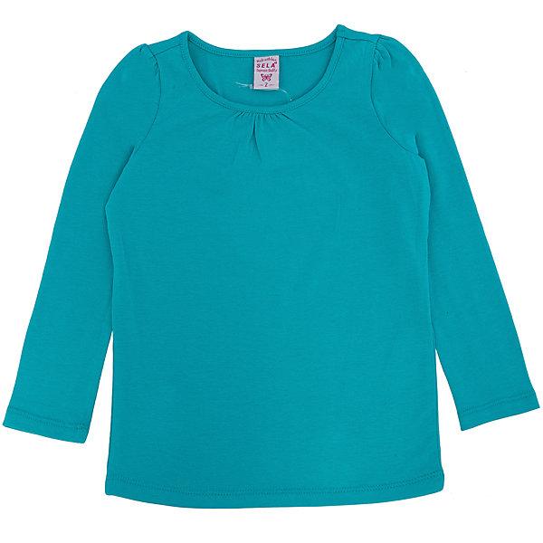 Футболка с длинным рукавом для девочки SELAФутболки с длинным рукавом<br>Джемпер для девочки из коллекции осень-зима 2016-2017 от известного бренда Sela(сэла).<br>Модель имеет прямой силуэт и длинные рукава. Отлично сочетается и с джинсами, и с юбкой.<br>Особенности:<br>-прямой силуэт<br>-длинные рукава<br>-нормальная длина<br>Состав: 5% эластан, 95% хлопок<br>Джемпер для девочек Sela(сэла) можно купить в нашем интернет-магазине.<br><br>Ширина мм: 190<br>Глубина мм: 74<br>Высота мм: 229<br>Вес г: 236<br>Цвет: зеленый<br>Возраст от месяцев: 24<br>Возраст до месяцев: 36<br>Пол: Женский<br>Возраст: Детский<br>Размер: 98,92,116,110,104<br>SKU: 4883759