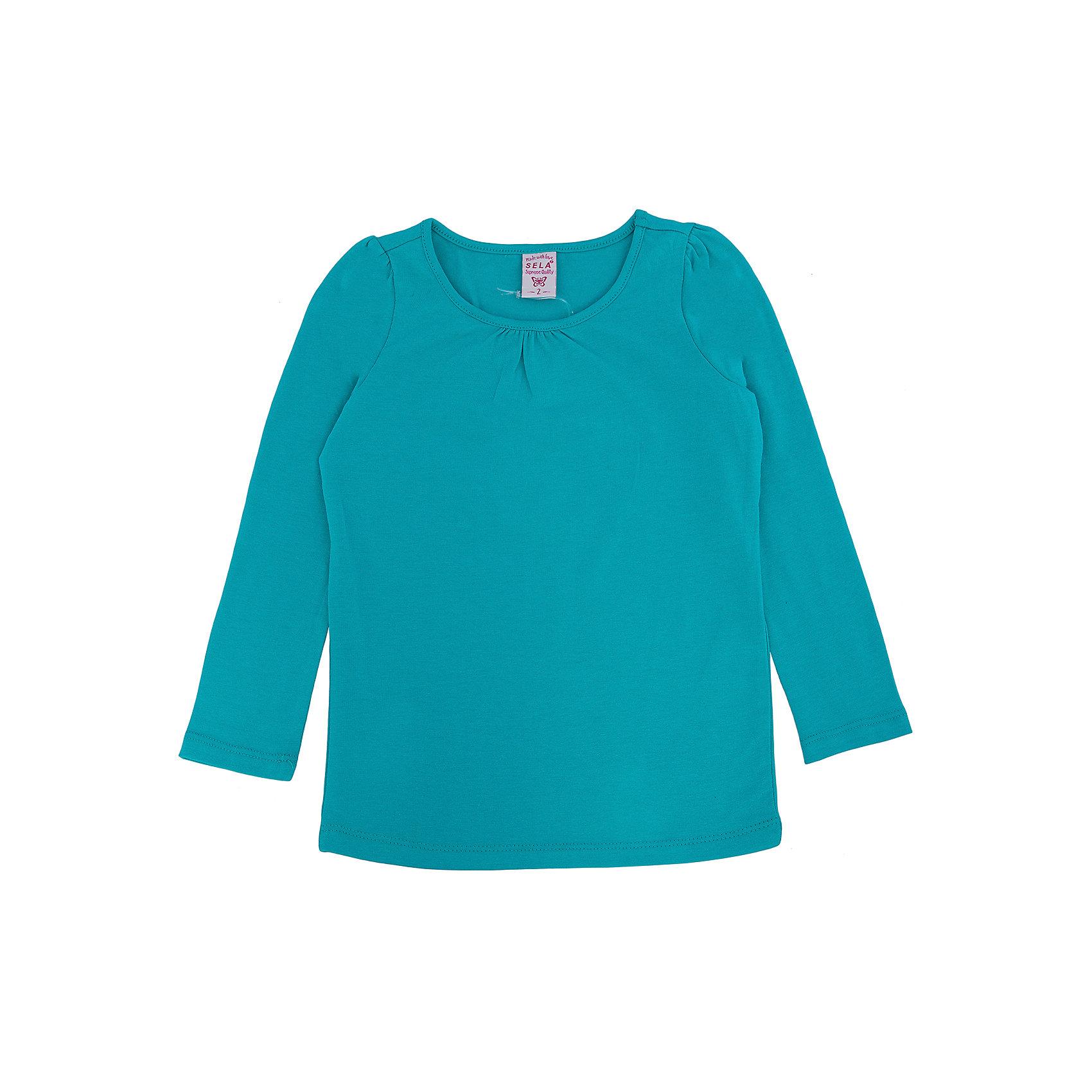 Футболка с длинным рукавом для девочки SELAФутболки с длинным рукавом<br>Джемпер для девочки из коллекции осень-зима 2016-2017 от известного бренда Sela(сэла).<br>Модель имеет прямой силуэт и длинные рукава. Отлично сочетается и с джинсами, и с юбкой.<br>Особенности:<br>-прямой силуэт<br>-длинные рукава<br>-нормальная длина<br>Состав: 5% эластан, 95% хлопок<br>Джемпер для девочек Sela(сэла) можно купить в нашем интернет-магазине.<br><br>Ширина мм: 190<br>Глубина мм: 74<br>Высота мм: 229<br>Вес г: 236<br>Цвет: зеленый<br>Возраст от месяцев: 24<br>Возраст до месяцев: 36<br>Пол: Женский<br>Возраст: Детский<br>Размер: 98,116,92,104,110<br>SKU: 4883759