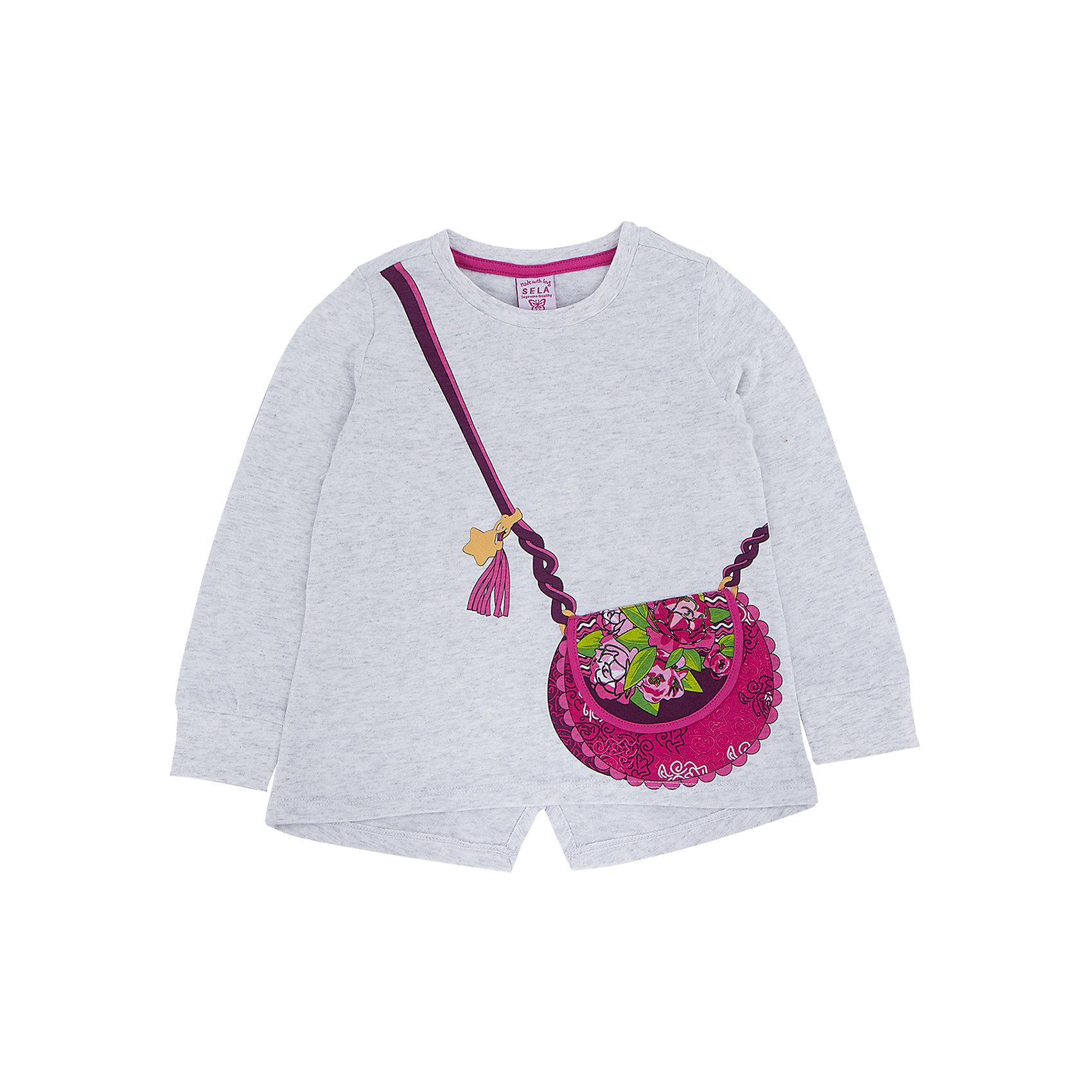 Футболка с длинным рукавом для девочки SELAДжемпер для девочки из коллекции осень-зима 2016-2017 от известного бренда Sela(сэла).<br>Модель имеет длинные рукава, расширенный к низу силуэт. Джемпер с необычным принтом понравится и ребенку, и родителям!<br>Особенности:<br>-расширенный к низу силуэт<br>-длинные рукава<br>-слегка удлиненная длина<br>Состав: 100% хлопок<br>Джемпер для девочек Sela(сэла) можно приобрести в нашем интернет-магазине.<br><br>Ширина мм: 190<br>Глубина мм: 74<br>Высота мм: 229<br>Вес г: 236<br>Цвет: серый<br>Возраст от месяцев: 18<br>Возраст до месяцев: 24<br>Пол: Женский<br>Возраст: Детский<br>Размер: 92,116,98,104,110<br>SKU: 4883777