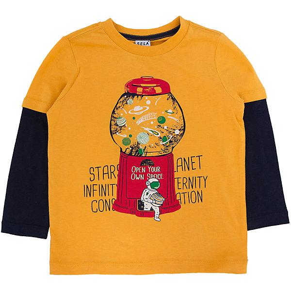 Купить Футболка с длинным рукавом для мальчика SELA, Китай, желтый, 98, 92, 116, 110, 104, Мужской
