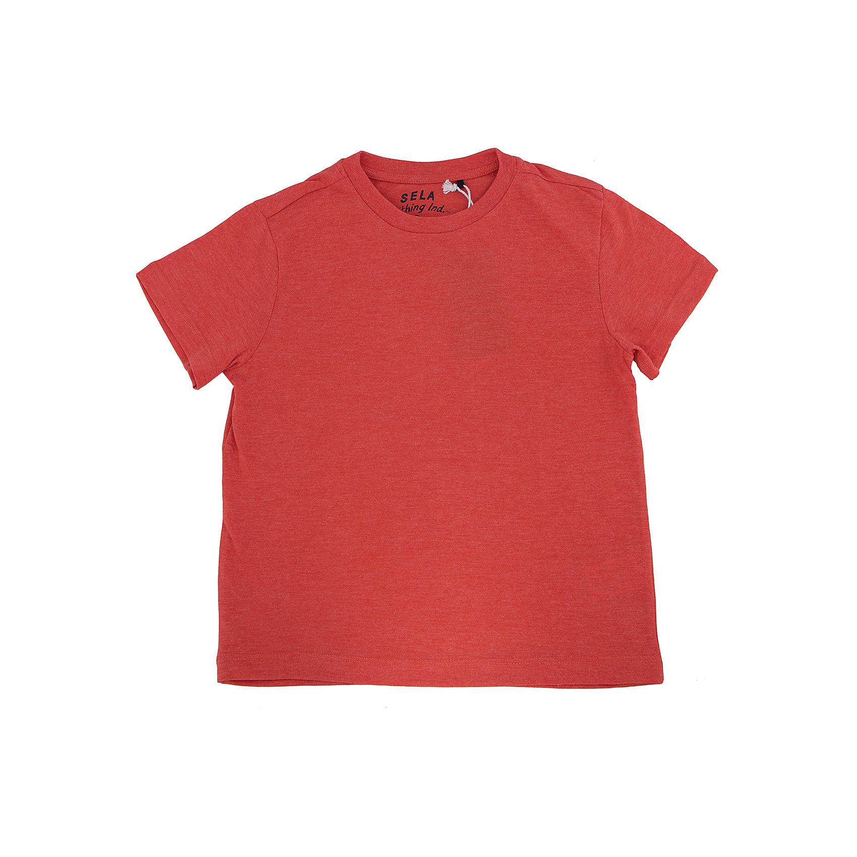 Футболка для мальчика SELAФутболки, поло и топы<br>Футболка для мальчика из коллекции осень-зима 2016-2017 от известного бренда Sela(сэла). Модель имеет короткие рукава и прямой силуэт. Классическая однотонная футболка - лучший вариант для прогулок!<br>Особенности:<br>-короткие рукава<br>-прямой силуэт<br>Состав: 20% ПЭ, 80% хлопок<br>Футболку для мальчиков Sela(сэла) можно купить в нашем интернет-магазине.<br><br>Ширина мм: 199<br>Глубина мм: 10<br>Высота мм: 161<br>Вес г: 151<br>Цвет: оранжевый<br>Возраст от месяцев: 120<br>Возраст до месяцев: 132<br>Пол: Мужской<br>Возраст: Детский<br>Размер: 116,122,128,134,140,146,152<br>SKU: 4883864