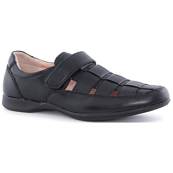Туфли для мальчика Indigo kidsОбувь<br>Полуботинки для мальчика Indigo kids (Индиго Кидс) от известного отечественного торгового бренда произведены из сочетания натуральных и искусственных материалов: верхняя часть обуви из искусственной кожи, внутренняя часть – из натуральной кожи. Подошва обуви данного производителя выполнена из термопласта (ТЭП), который обладает гибкостью материала, легкостью, прочностью и антискользящими свойствами практически на любой поверхности. Полуботинки разработаны с учетом анатомических особенностей детской стопы: у них мягкая пятка, круглый носок и застежка на липучке. Обувь выполнена в черном цвете. Полуботинки от Indigo kids подходят для сменной обуви, так как они легкие и прочные. Обувь от Indigo kids – это удобство, комфорт и стиль!<br><br>Дополнительная информация:<br><br>- Предназначение: повседневная обувь, для сменной обуви в школу<br>- Цвет: черный<br>- Пол: для мальчика<br>- Сезон: демисезонные<br>- Особенности ухода: сухая и влажная чистка<br><br>Подробнее:<br><br>• Страна производитель: Китай<br>• Торговый бренд: Indigo kids<br><br>Полуботинки для мальчика Indigo kids (Индиго Кидс) можно купить в нашем интернет-магазине.<br>Ширина мм: 262; Глубина мм: 176; Высота мм: 97; Вес г: 427; Цвет: черный; Возраст от месяцев: 108; Возраст до месяцев: 120; Пол: Мужской; Возраст: Детский; Размер: 33,36,35,34,32,37; SKU: 4885451;