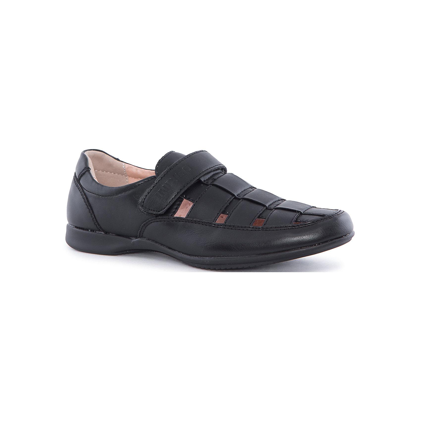 Туфли для мальчика Indigo kidsОбувь<br>Полуботинки для мальчика Indigo kids (Индиго Кидс) от известного отечественного торгового бренда произведены из сочетания натуральных и искусственных материалов: верхняя часть обуви из искусственной кожи, внутренняя часть – из натуральной кожи. Подошва обуви данного производителя выполнена из термопласта (ТЭП), который обладает гибкостью материала, легкостью, прочностью и антискользящими свойствами практически на любой поверхности. Полуботинки разработаны с учетом анатомических особенностей детской стопы: у них мягкая пятка, круглый носок и застежка на липучке. Обувь выполнена в черном цвете. Полуботинки от Indigo kids подходят для сменной обуви, так как они легкие и прочные. Обувь от Indigo kids – это удобство, комфорт и стиль!<br><br>Дополнительная информация:<br><br>- Предназначение: повседневная обувь, для сменной обуви в школу<br>- Цвет: черный<br>- Пол: для мальчика<br>- Сезон: демисезонные<br>- Особенности ухода: сухая и влажная чистка<br><br>Подробнее:<br><br>• Страна производитель: Китай<br>• Торговый бренд: Indigo kids<br><br>Полуботинки для мальчика Indigo kids (Индиго Кидс) можно купить в нашем интернет-магазине.<br><br>Ширина мм: 262<br>Глубина мм: 176<br>Высота мм: 97<br>Вес г: 427<br>Цвет: черный<br>Возраст от месяцев: 96<br>Возраст до месяцев: 108<br>Пол: Мужской<br>Возраст: Детский<br>Размер: 32,37,33,34,35,36<br>SKU: 4885451