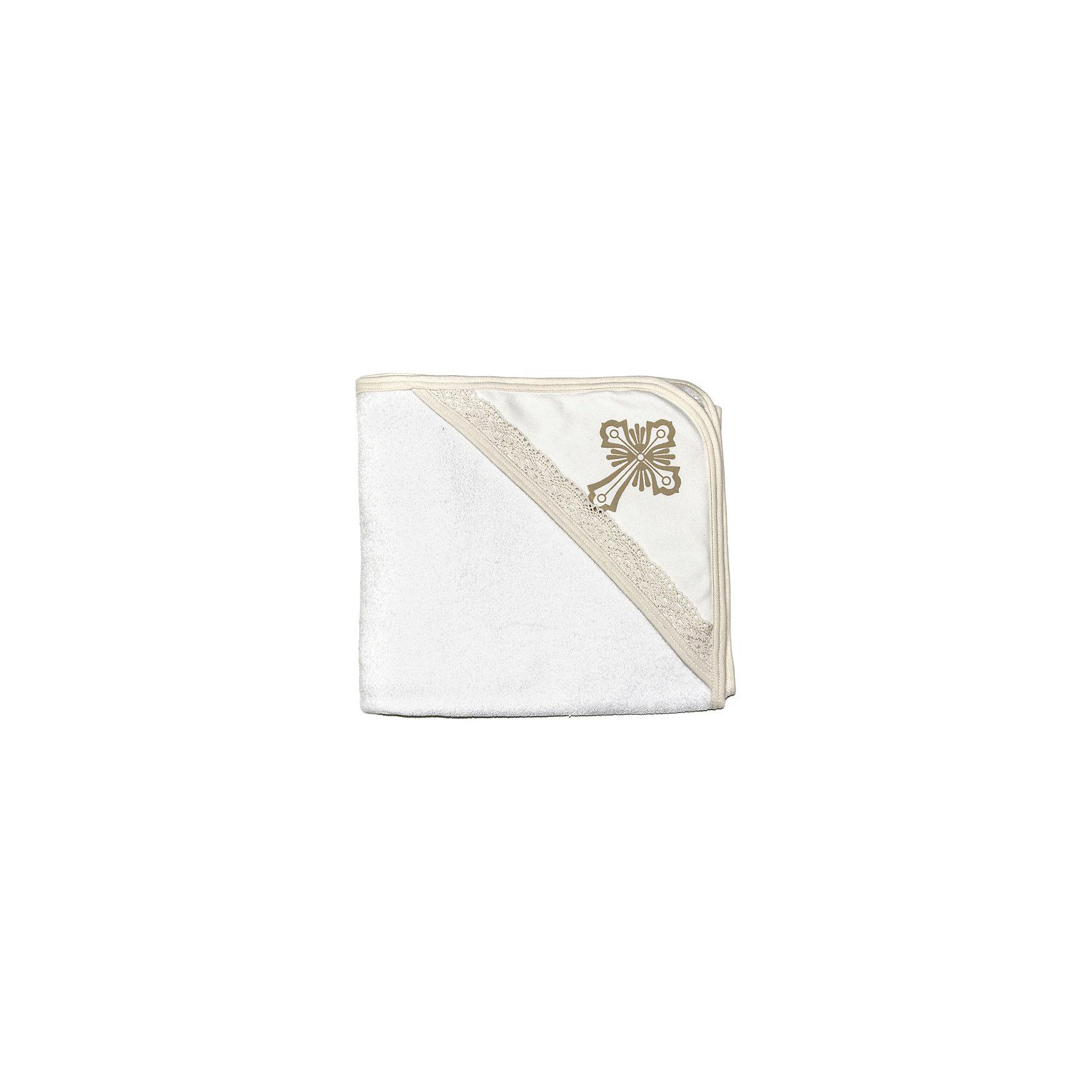 Крестильное полотенце с уголком 90*90, NewBorn, белый/золотоПолотенца, мочалки, халаты<br>Крестильное полотенце с уголком 90*90, NewBorn (НьюБорн)<br>Мягкое крестильное полотенце, изготовленное из хлопковой ткани, прекрасно подойдет для таинства крещения. Полотенце оторочено тесьмой, уголок декорирован кружевом. Часть уголка, которая придется на лобик малыша, украшает искусно вышитый золотой крестик. Полотенце хорошо впитывает влагу и приятно для нежной кожи ребенка. Оно прекрасно смотрится как самостоятельно, так и в качестве одного из компонентов крестильного набора.<br><br>Дополнительная информация:<br><br>- Цвет: белый, золотой<br>- Состав: 100% хлопок<br>- Размер: 90х90 см.<br><br>Крестильное полотенце с уголком 90*90, NewBorn (НьюБорн) можно купить в нашем интернет-магазине.<br><br>Ширина мм: 200<br>Глубина мм: 200<br>Высота мм: 100<br>Вес г: 300<br>Возраст от месяцев: 0<br>Возраст до месяцев: 12<br>Пол: Унисекс<br>Возраст: Детский<br>SKU: 4889958