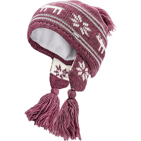 Шапка для девочки Finn FlareГоловные уборы<br>Шапка известной марки Finn Flare.<br><br>Теплая шапочка для зимнего периода оснащена «ушками» с кисточками, есть помпон-кисточка. Шапка вязаная, декорирована вязаной аппликацией «олень+снежинки». Теплая и нарядная шапочка на подкладке защищает от ветра, снега и холода, не колется и не растягивается. <br><br>Фактура материала: Трикотажный<br><br>Состав: 70% шерсть, 30% акрил<br>Подкладка: 100% полиэстер<br><br>Шапку для девочки Finn Flare можно купить в нашем интернет-магазине.<br><br>Ширина мм: 89<br>Глубина мм: 117<br>Высота мм: 44<br>Вес г: 155<br>Цвет: розовый<br>Возраст от месяцев: 60<br>Возраст до месяцев: 72<br>Пол: Женский<br>Возраст: Детский<br>Размер: 54<br>SKU: 4890082