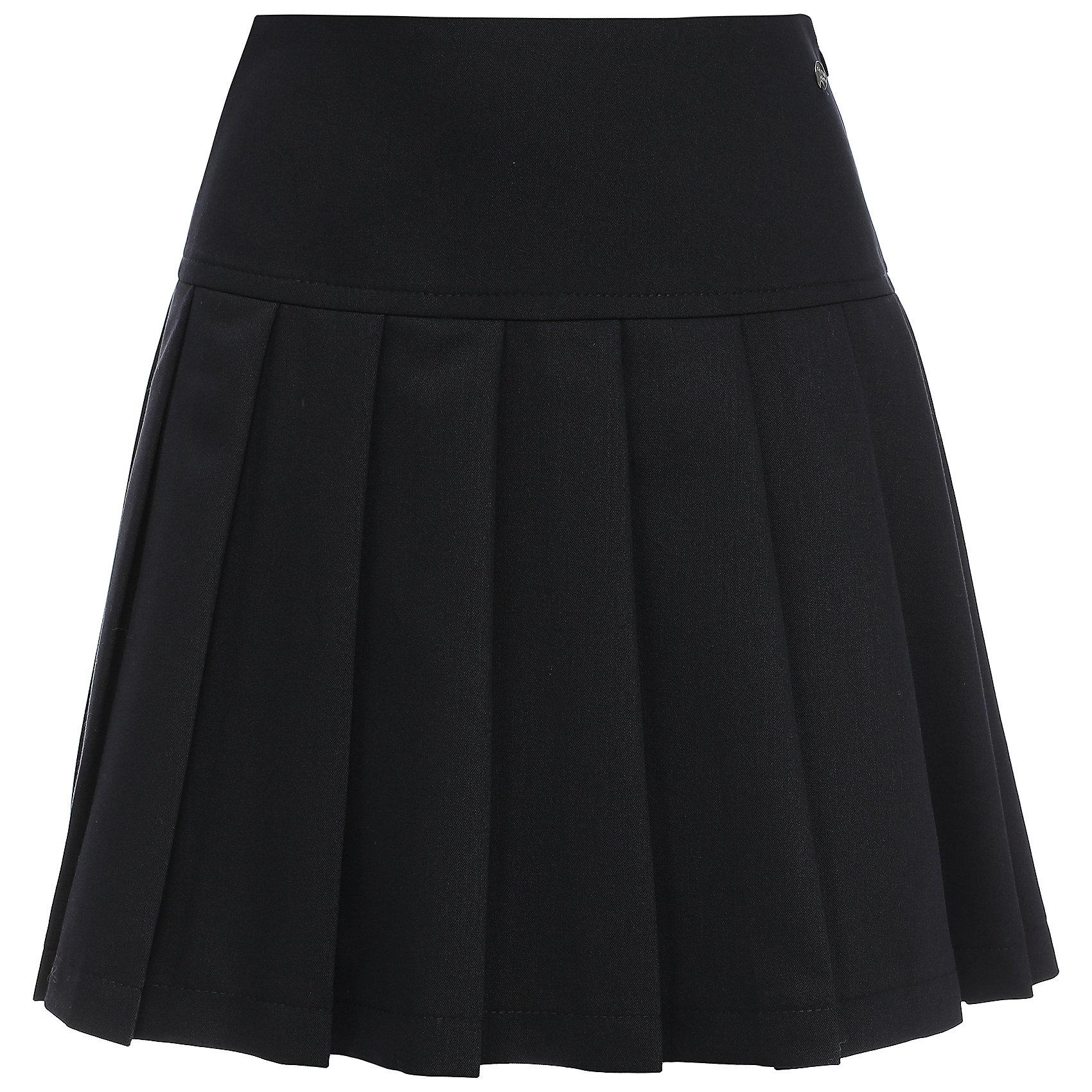 Юбка для девочки Finn FlareЮбки<br>Юбка известной марки Finn Flare.<br><br>Школьная юбка со складками по всей окружности предназначена для повседневной носки, сочетается как с блузами и пиджаками, так и с джемперами. Юбка имеет широкий пояс, боковую молнию, украшена маленькой декоративной пуговицей. <br><br>Фактура материала: Текстильный<br>Вид застежки: Молния<br>Тип карманов: Без карманов<br><br>Состав: 65% полиэстер, 33% вискоза, 2% эластан<br>Подкладка: 100% полиэстер<br><br>Юбку для девочки Finn Flare можно купить в нашем интернет-магазине.<br><br>Ширина мм: 207<br>Глубина мм: 10<br>Высота мм: 189<br>Вес г: 183<br>Цвет: синий<br>Возраст от месяцев: 144<br>Возраст до месяцев: 156<br>Пол: Женский<br>Возраст: Детский<br>Размер: 158,146,116,122,152,128,134,140<br>SKU: 4890140