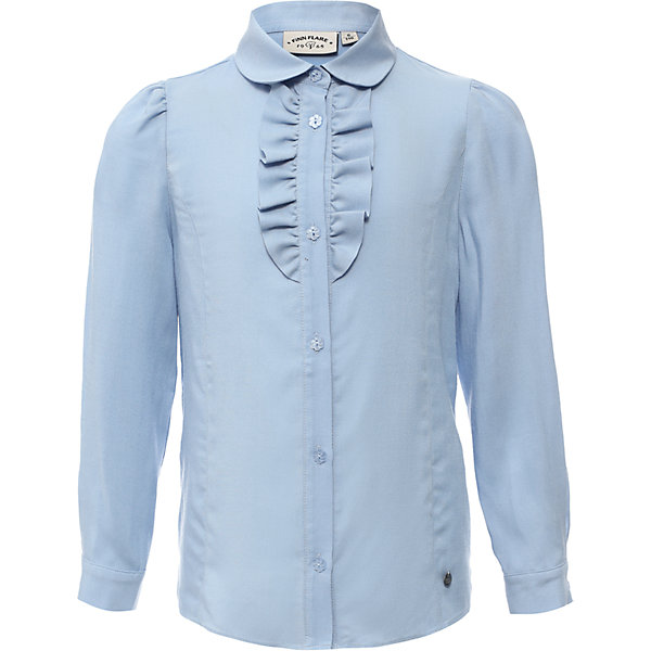 Блузка для девочки Finn FlareБлузки и рубашки<br>Блузка для девочки известной марки Finn Flare.<br><br>Школьная блузка для девочки украшена волнами у ворота, имеет декоративные пуговицы-цветочки. Блузка с длинными рукавами, которые имеют узкие манжеты на пуговичках. Рукава блузки можно подкатить – получится блузка с рукавами на 3/4. <br><br>Фактура материала: Текстильный<br>Вид застежки: Пуговицы<br>Длина рукава: Длинные<br>Тип карманов: Без карманов<br><br>Состав: 95% вискоза, 5% эластан<br><br>Блузку для девочки Finn Flare можно купить в нашем интернет-магазине.<br><br>Ширина мм: 186<br>Глубина мм: 87<br>Высота мм: 198<br>Вес г: 197<br>Цвет: голубой<br>Возраст от месяцев: 120<br>Возраст до месяцев: 132<br>Пол: Женский<br>Возраст: Детский<br>Размер: 128,122,116,158,152,140,134,146<br>SKU: 4890158